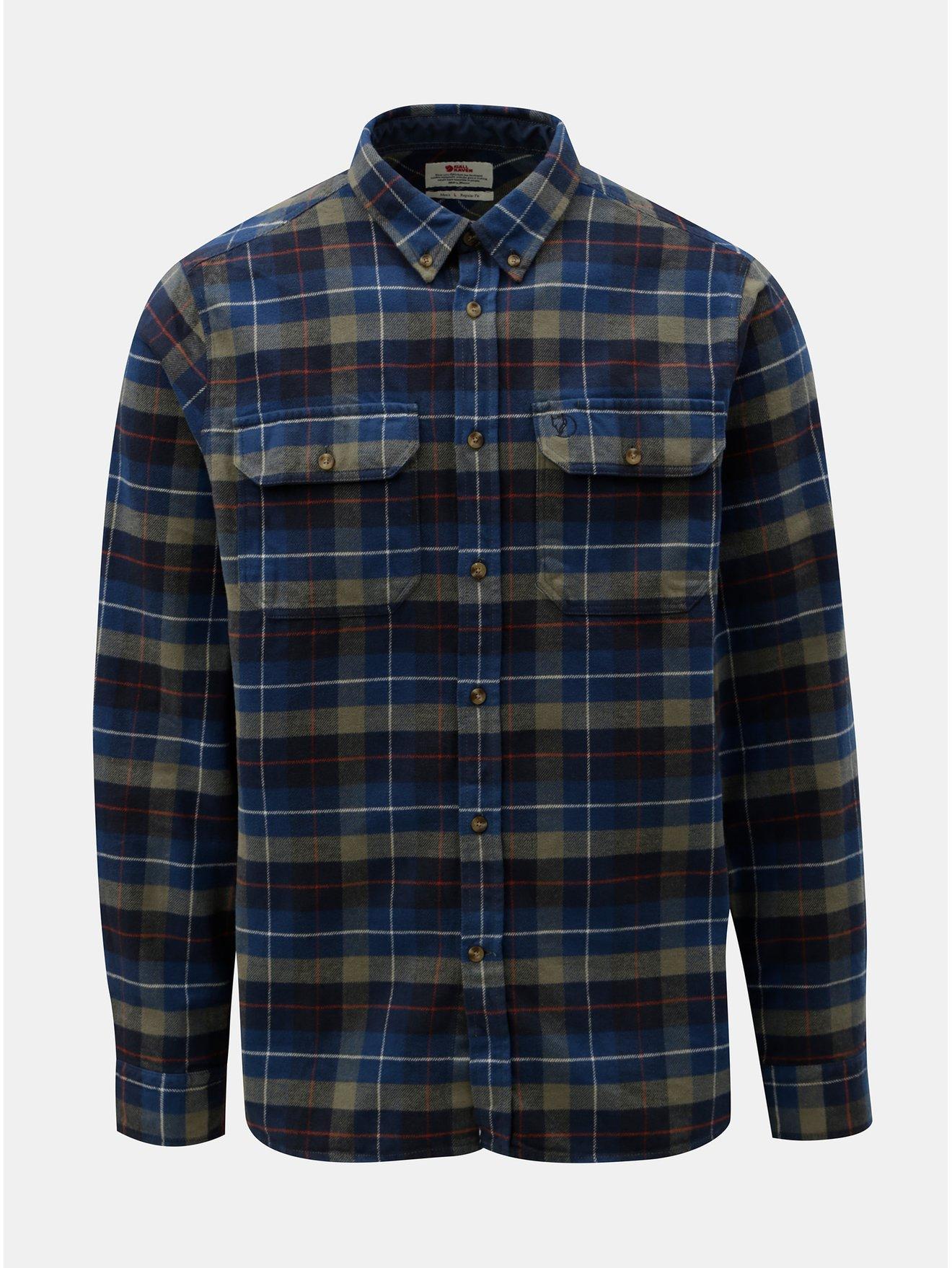 Modrá pánská károvaná flanelová košile Fjällräven Singi 46da91188a