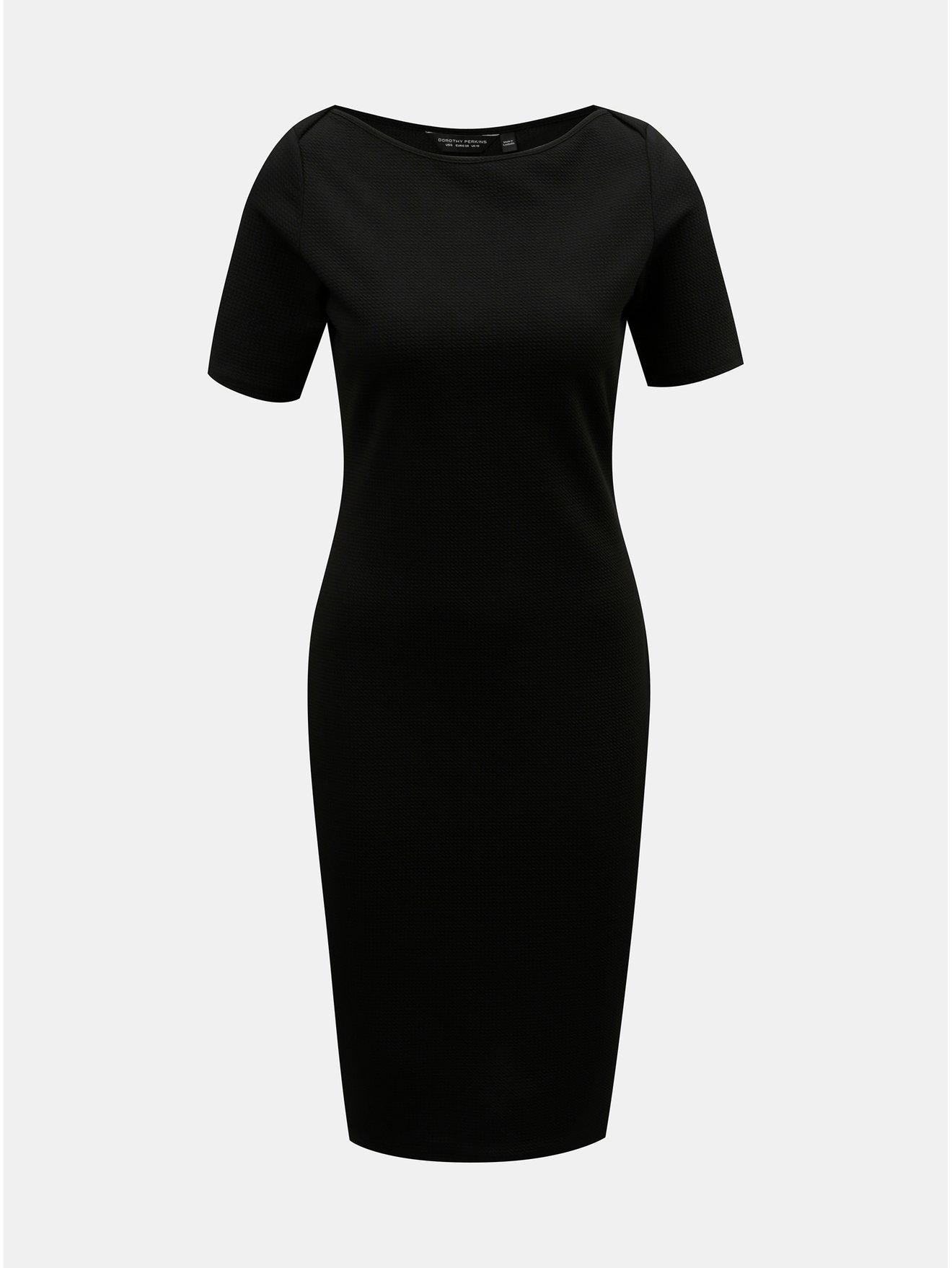 2b2977f03480 Čierne puzdrové šaty s krátkym rukávom Dorothy Perkins