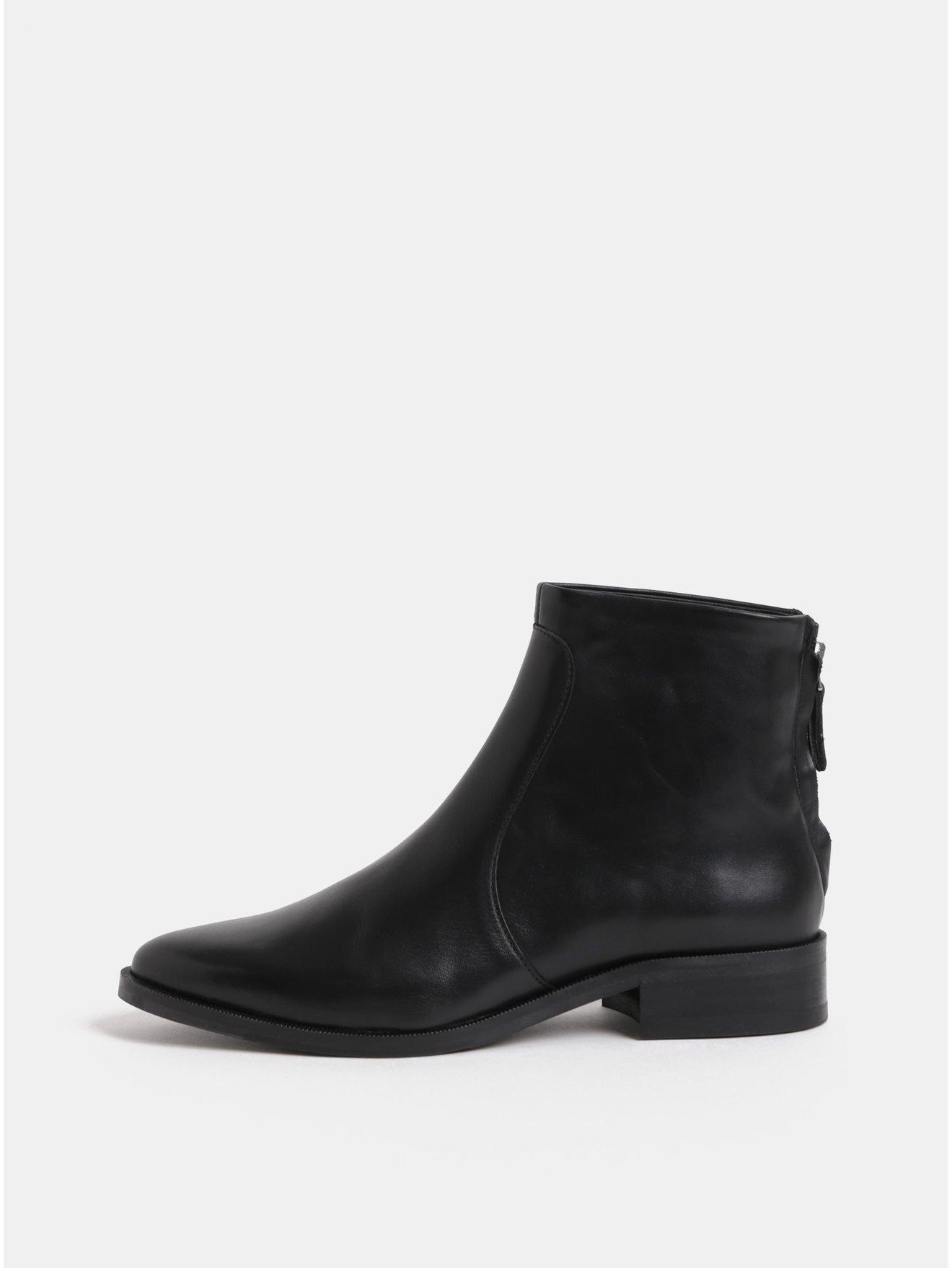 116217194f59 Čierne dámske kožené členkové topánky Royal RepubliQ
