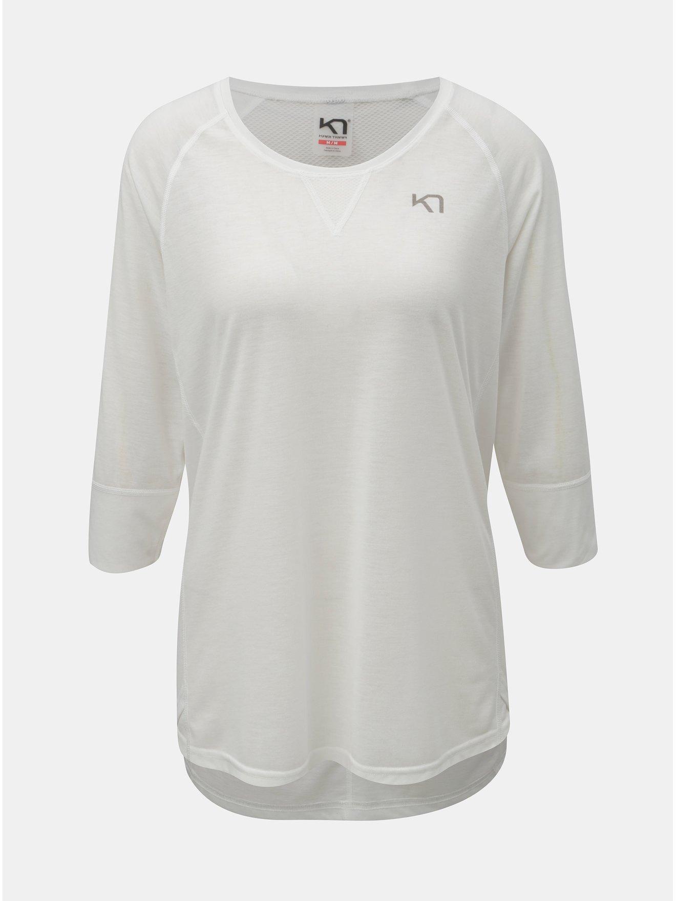 Bílé funkční tričko s 3 4 rukávem Kari Traa Julie 11b4334c17a