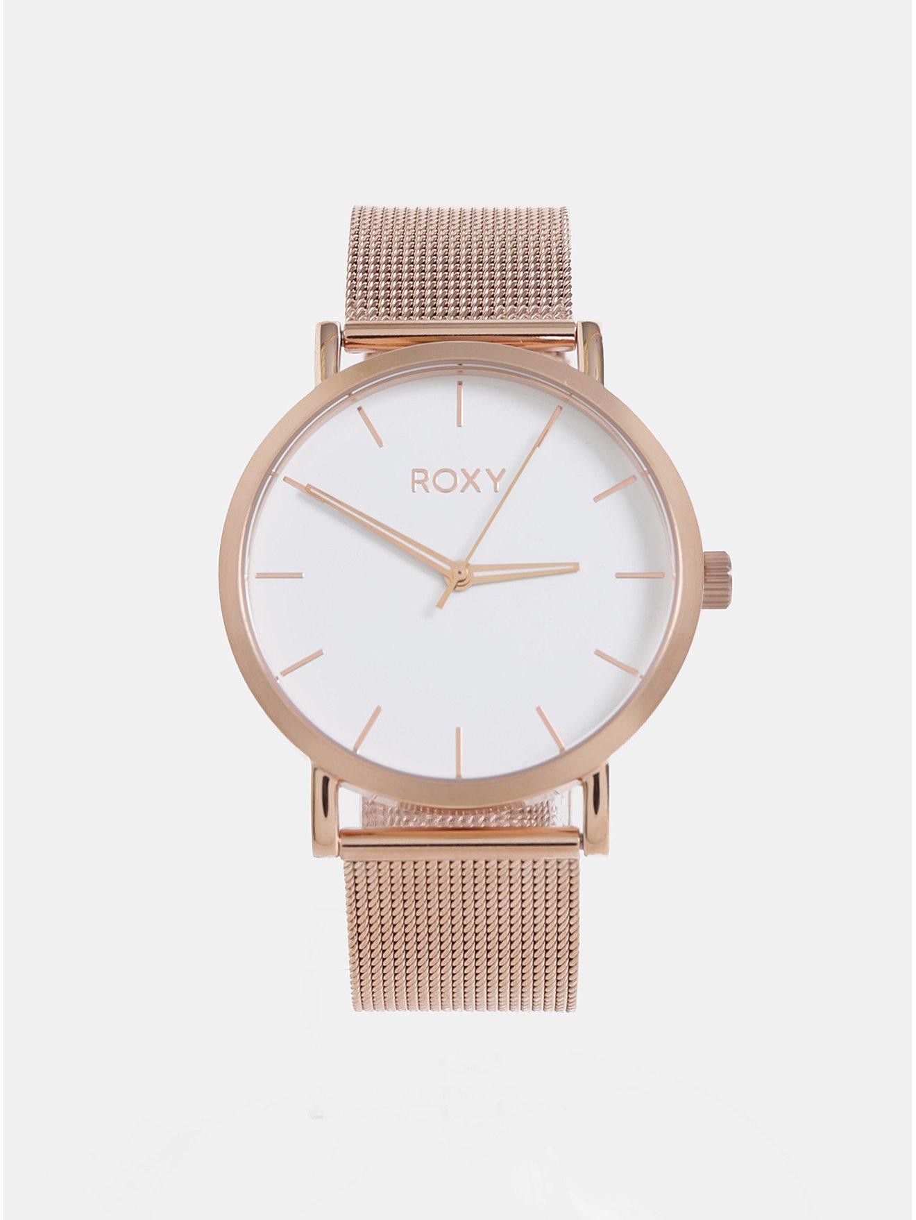 Dámské hodinky s nerezovým páskem v růžovozlaté barvě Roxy Maya
