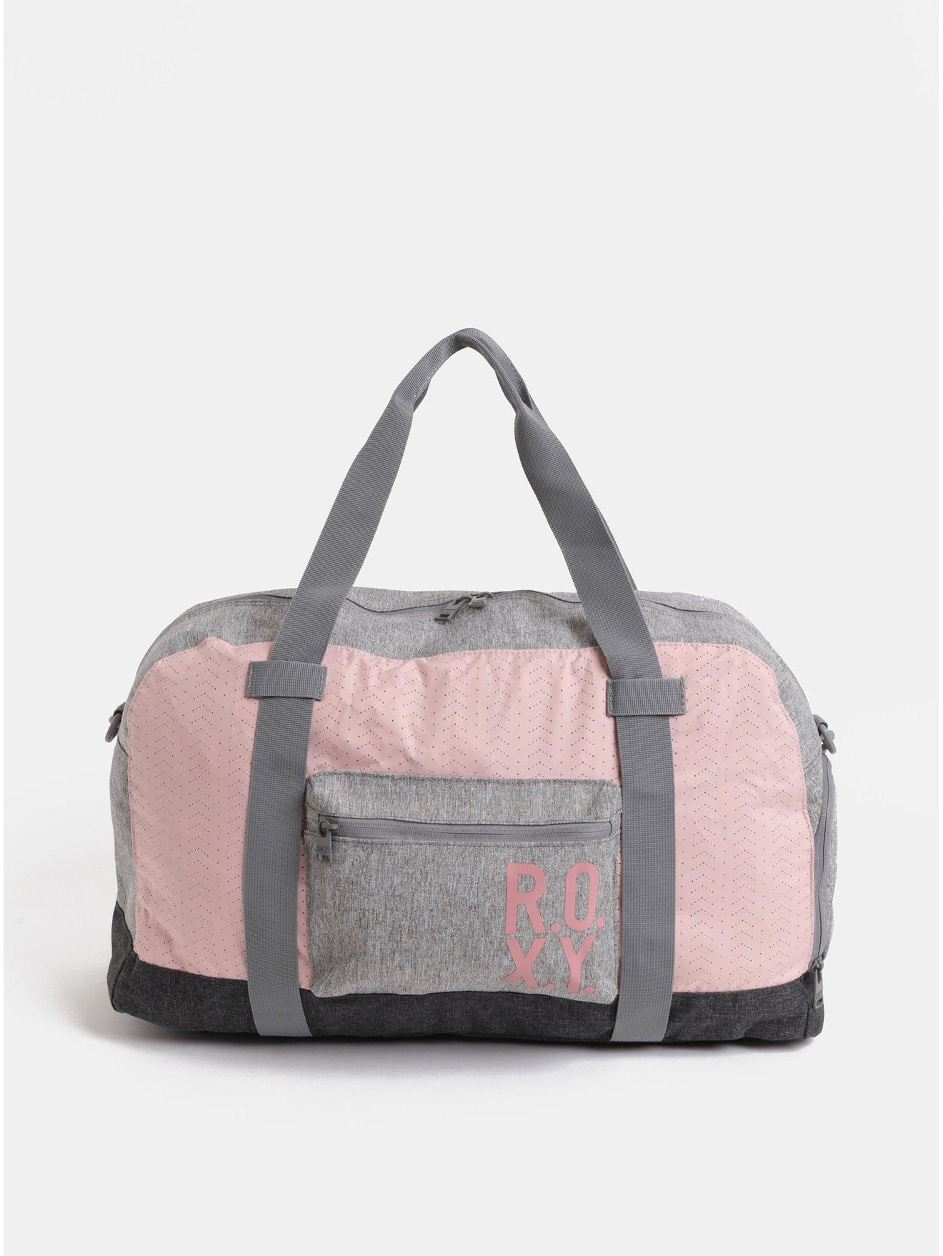 Růžovo-šedá dámská sportovní taška Roxy Winter Come 32 l
