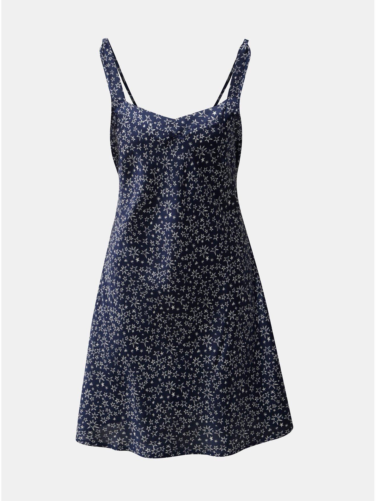 Tmavě modrá noční košilka s motivem hvězd M&Co Star
