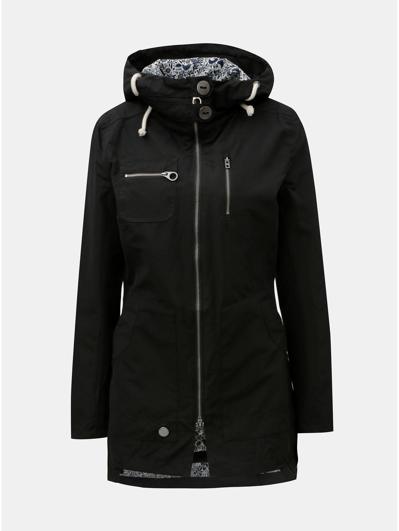 Černá dámská voděodolná bunda WOOX Ventus Urban