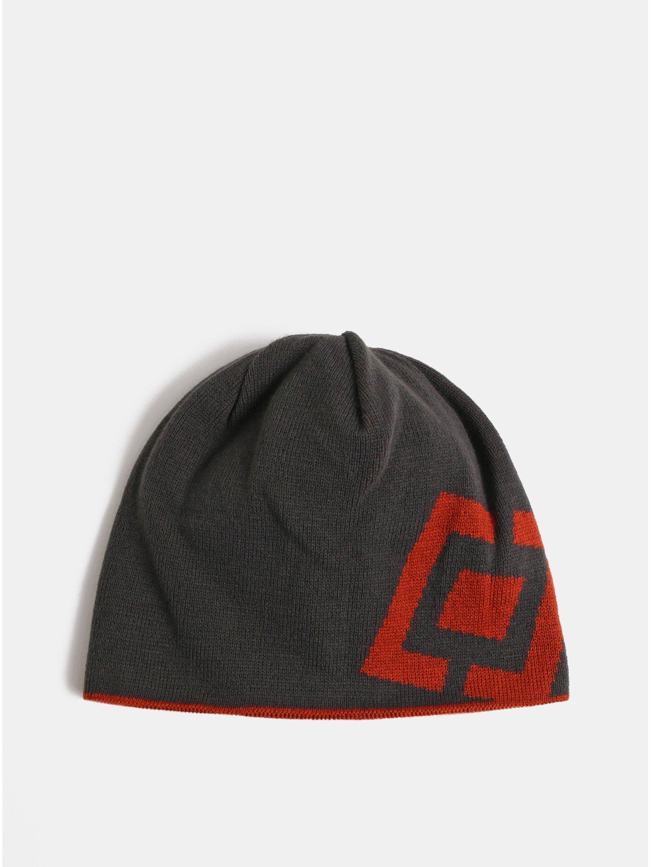 Červeno-šedá pánská oboustranná čepice Horsefeathers Fuse 9a81944065