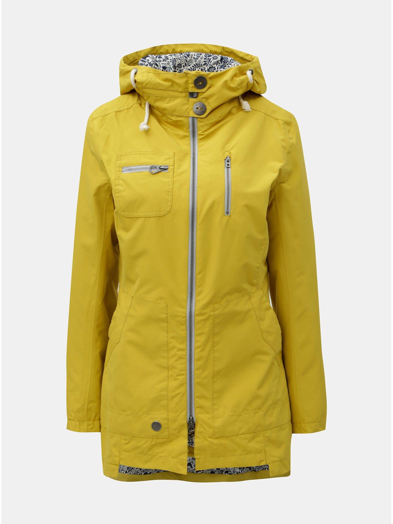 Žlutá dámská voděodolná bunda WOOX Ventus Urban
