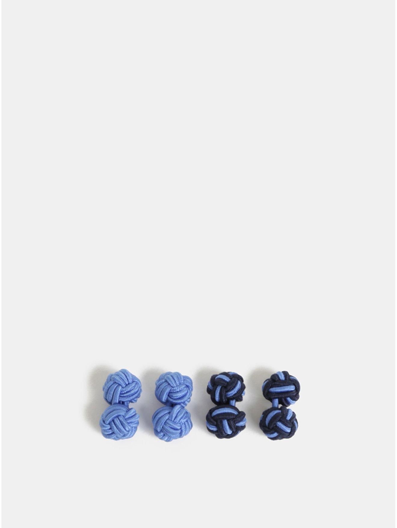 Sada dvou párů modrých manžetových knoflíčků Burton Menswear London