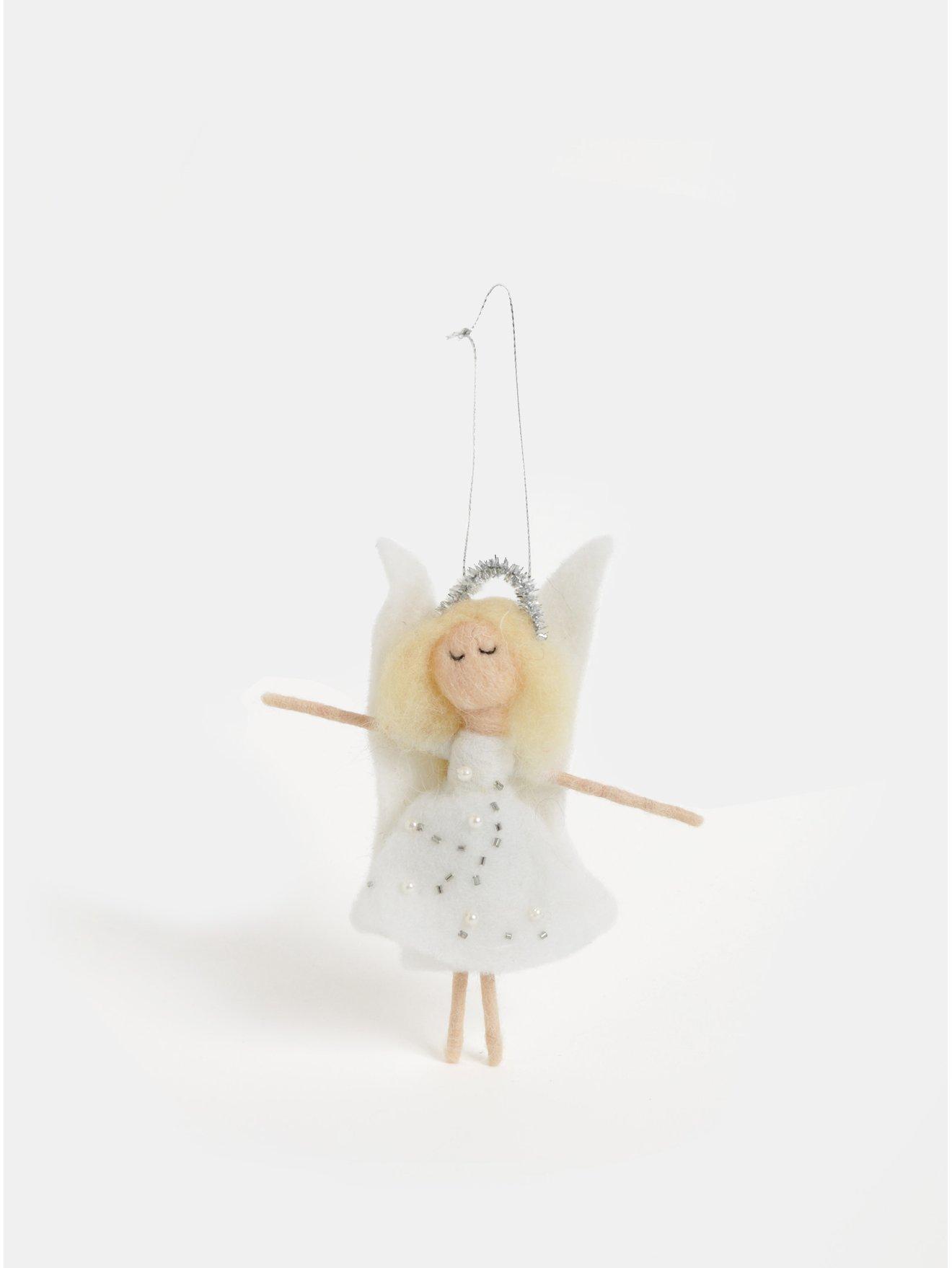Vánoční dekorace ve tvaru anděla Sass & Belle Felt Angel