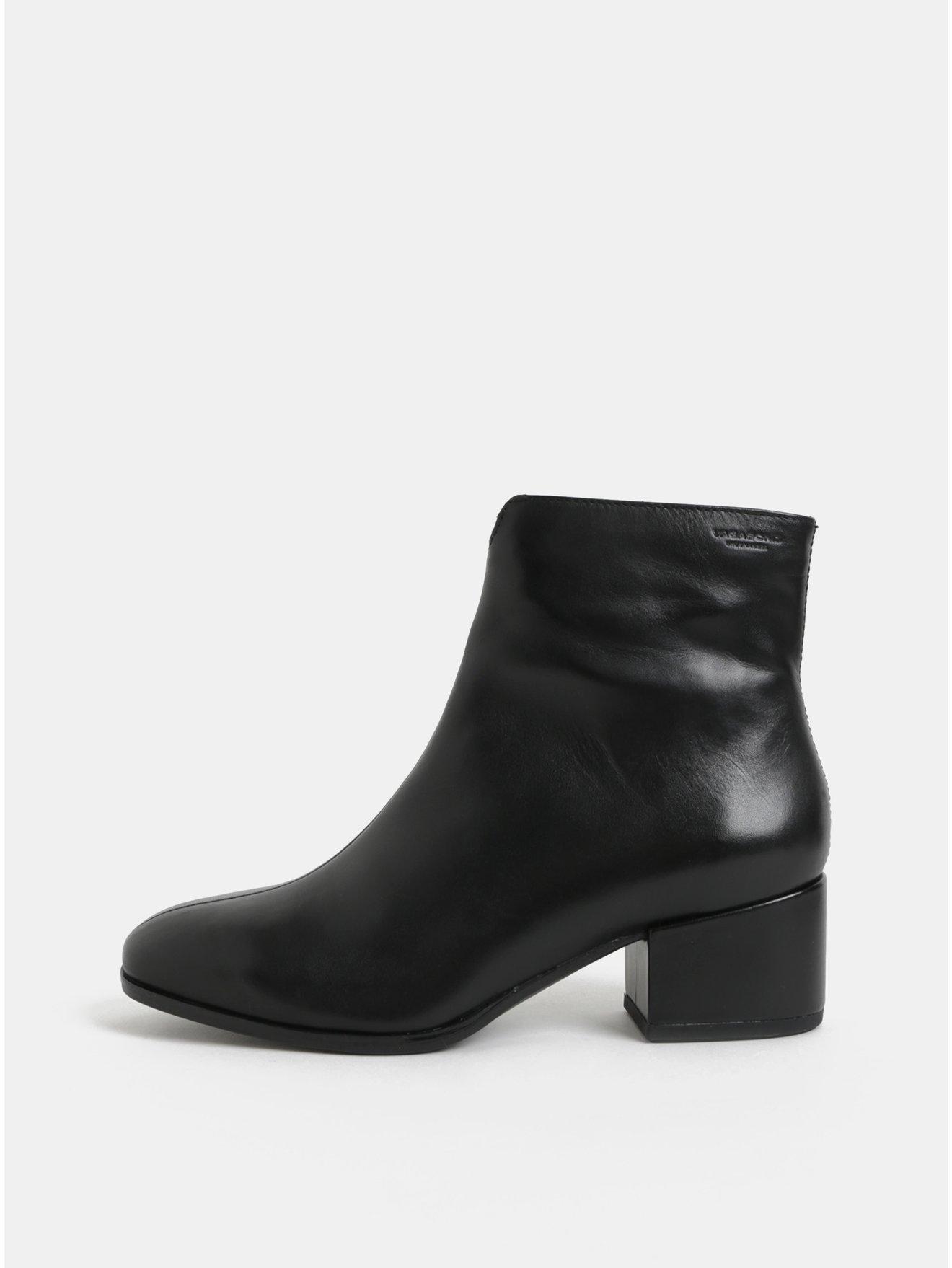 Černé dámské kožené kotníkové boty na nízkém podpatku Vagabond Daisy c7c1c14a9c