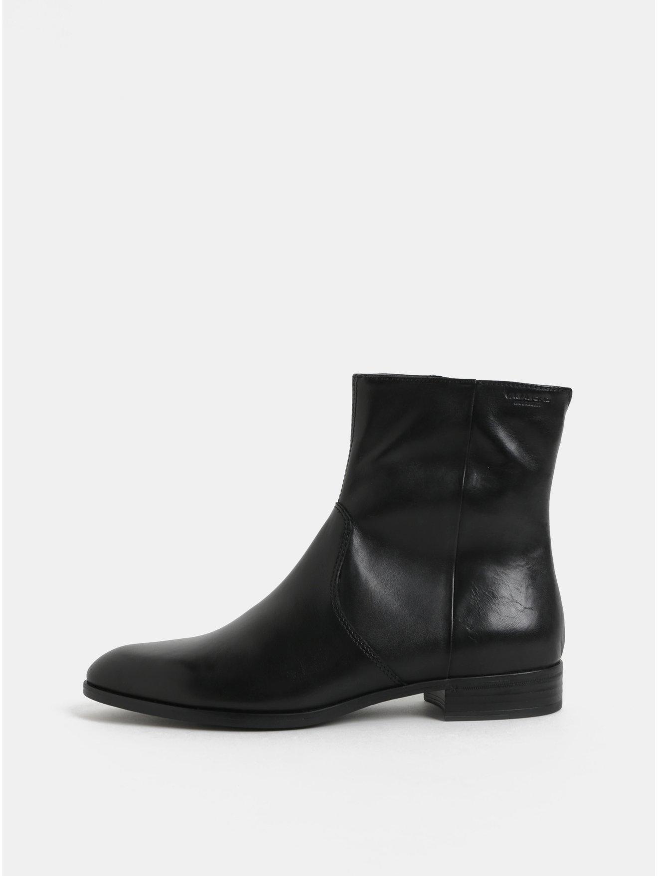 f24d2bea3a2 Černé dámské kožené kotníkové boty Vagabond Frances Sister