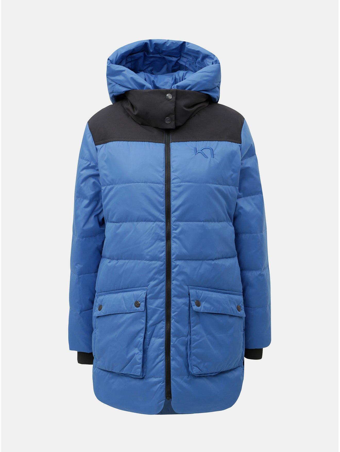 Šedo-modrý zimní nepromokavý kabát Kari Traa Rothe