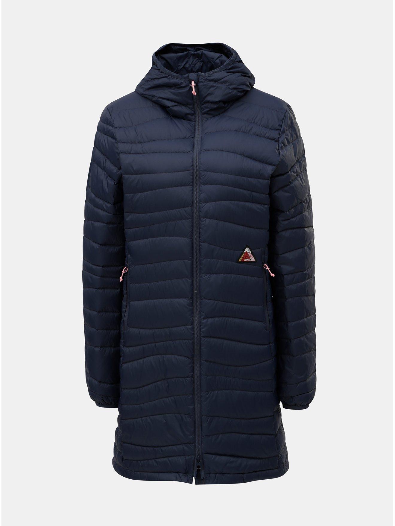 Tmavě modrý dámský voděodpudivý péřový kabát Maloja Fora