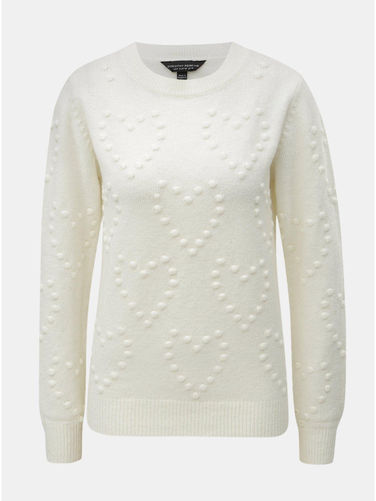 Krémový svetr s plastickým vzorem Dorothy Perkins d4ef379960