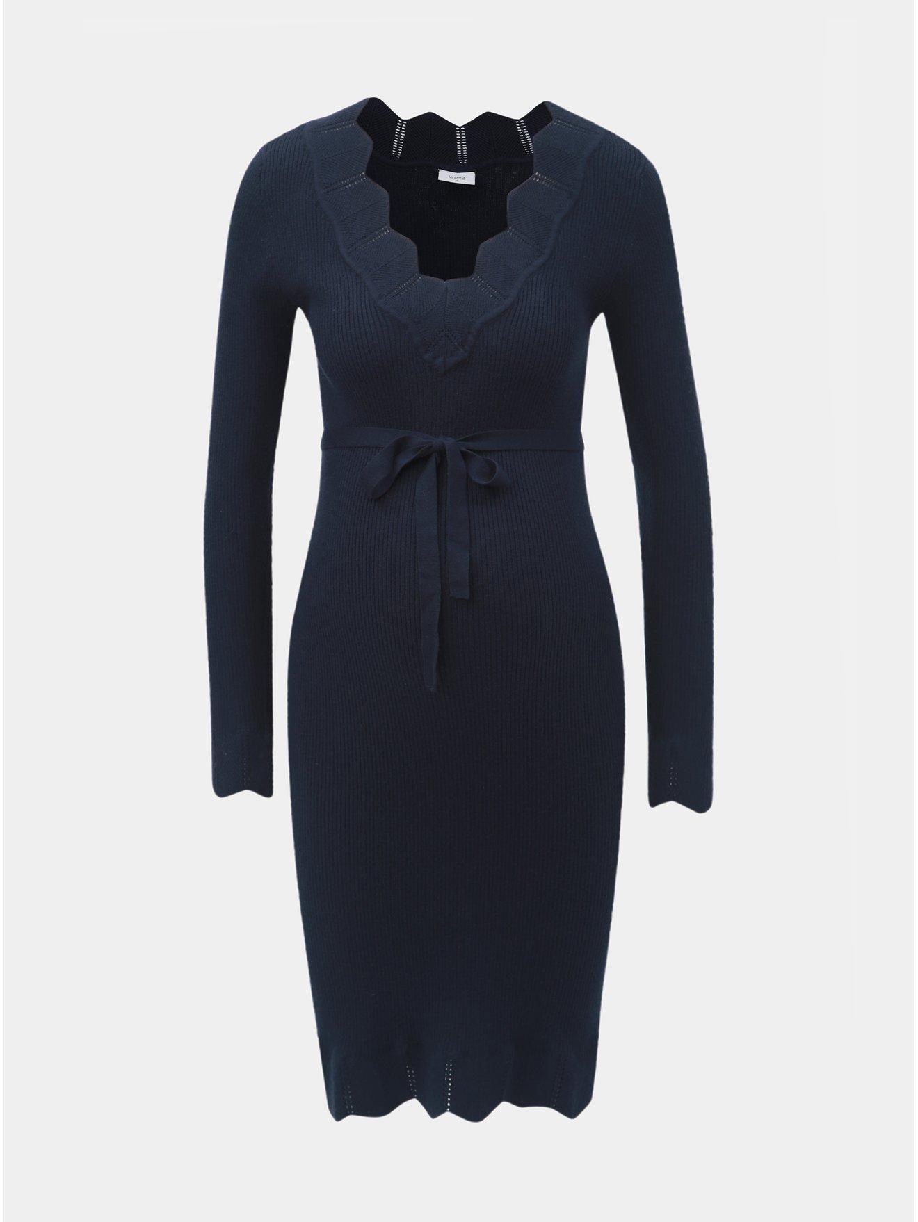 Tmavě modré těhotenské svetrové šaty Mama.licious Eva 41e54fa7eb
