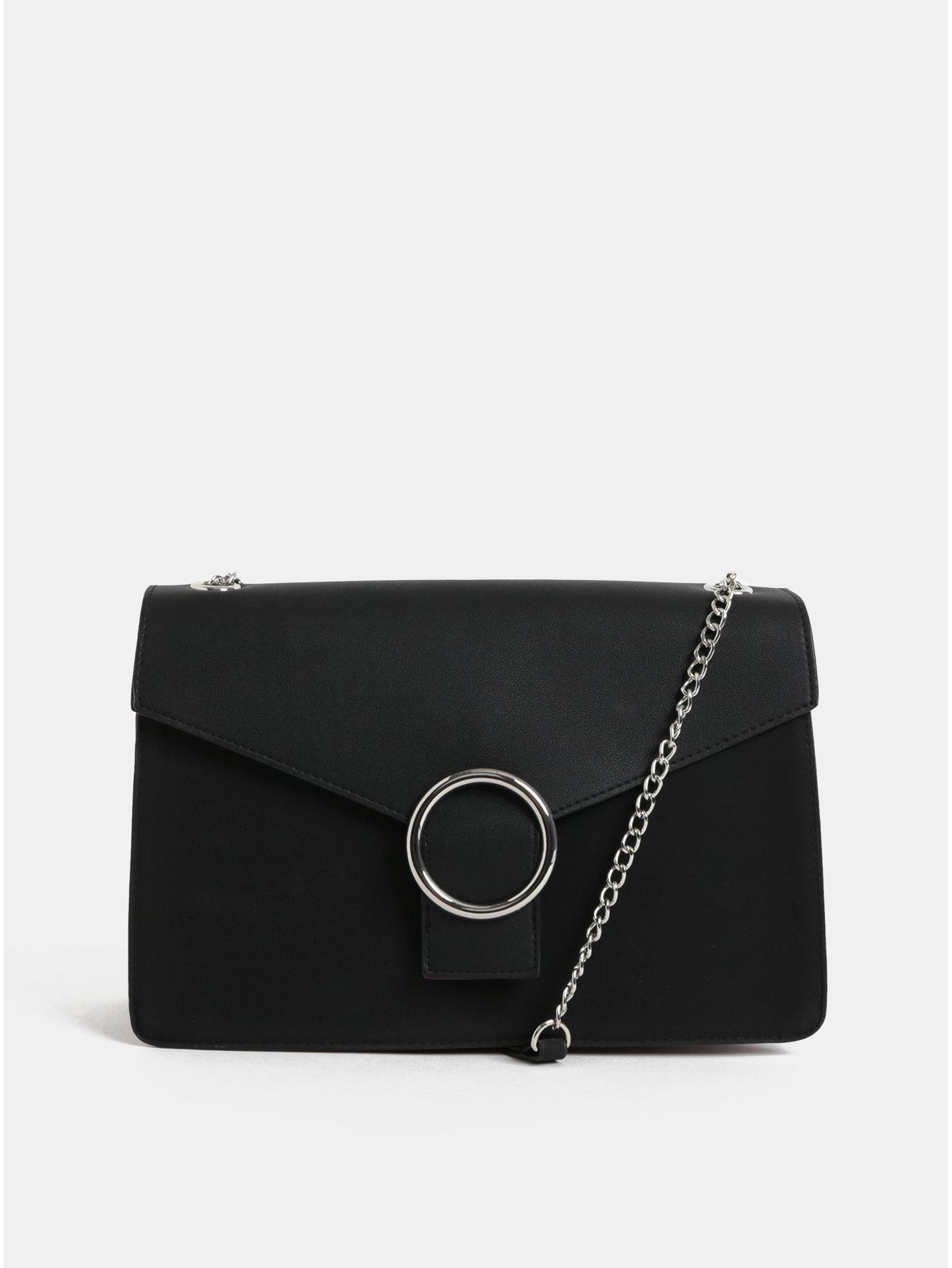 6164e0f2ee3 Černá kabelka se sametovou částí Pieces Kaori