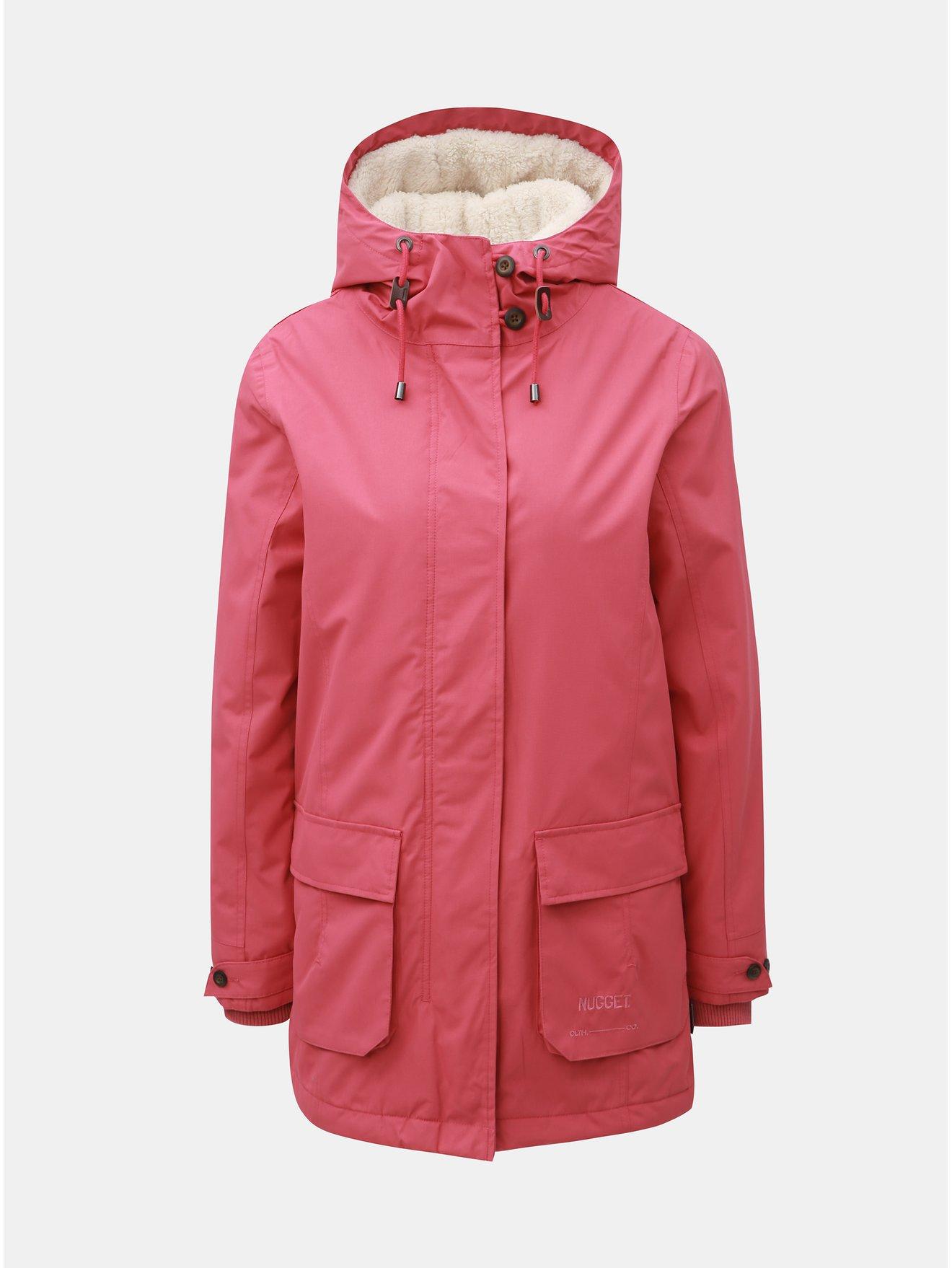 Růžová dámská zimní bunda Nugget Hita