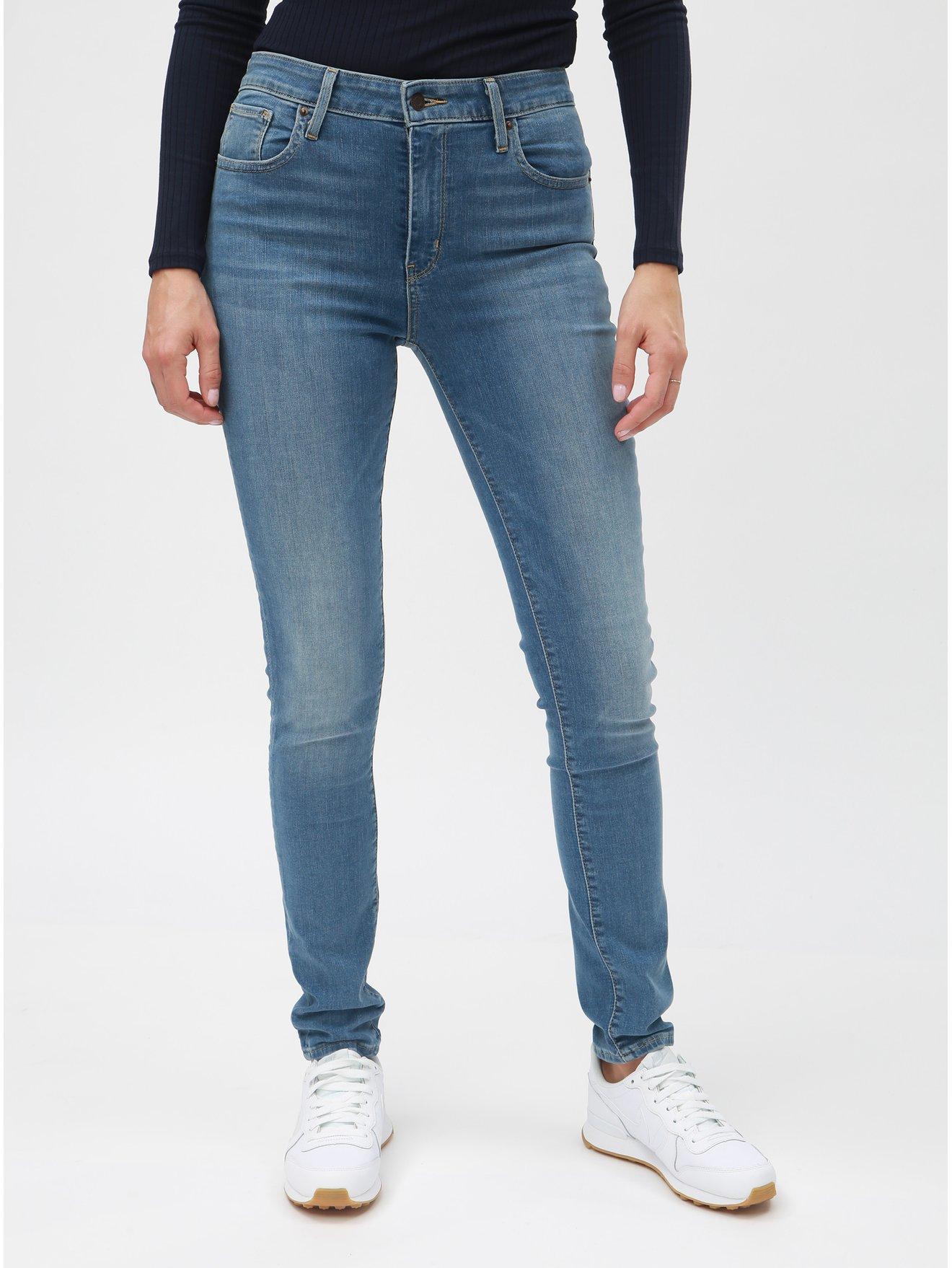 Světle modré dámské skinny džíny s vysokým pasem Levi s® 721 e01751221b