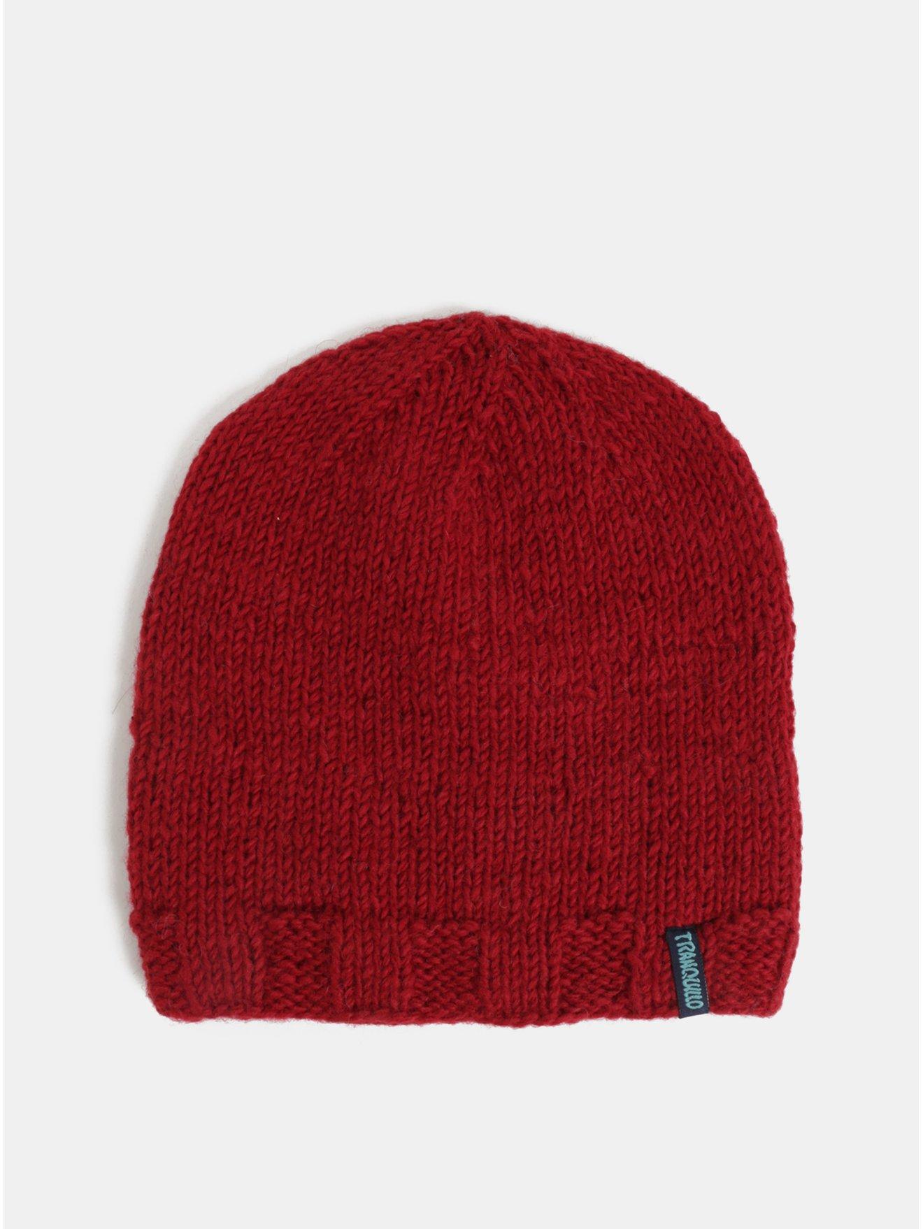 5b8529031b8 Červená vlněná zimní čepice Tranquillo Fontei