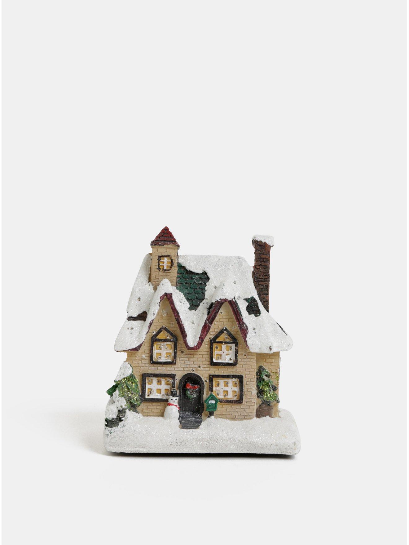 Fotografie Svítící vánoční dekorace ve tvaru domečku Kaemingk