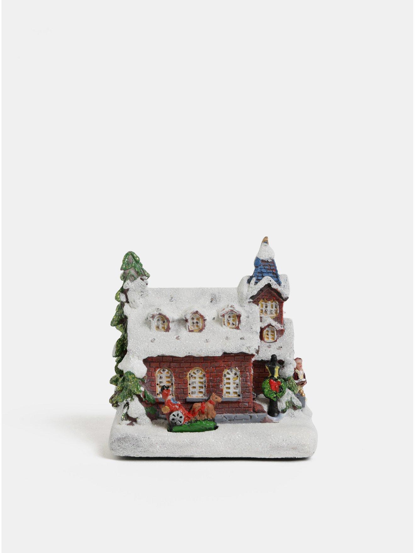 Svítící vánoční dekorace ve tvaru kostela Kaemingk