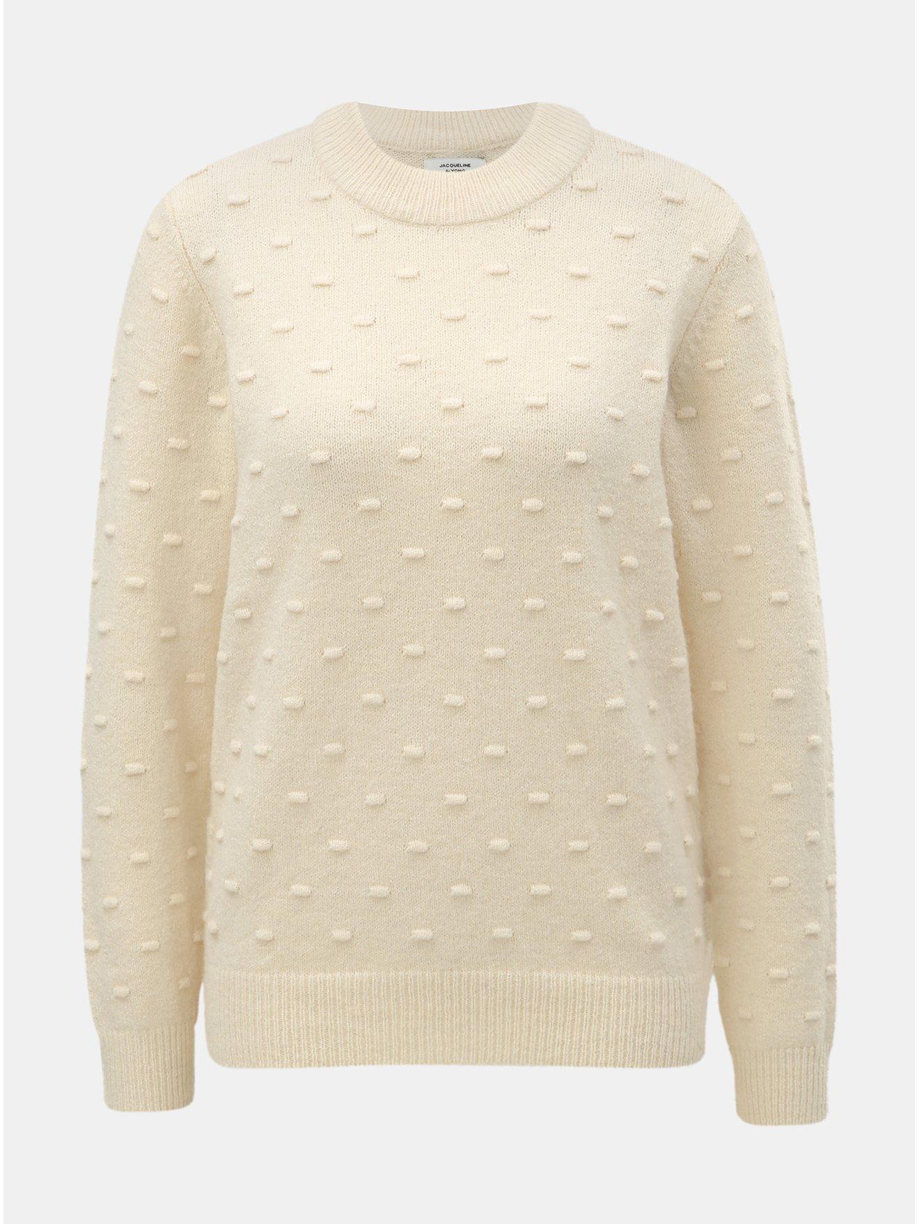 Béžový svetr s plastickým vzorem Jacqueline de Yong Dotta 8782481338