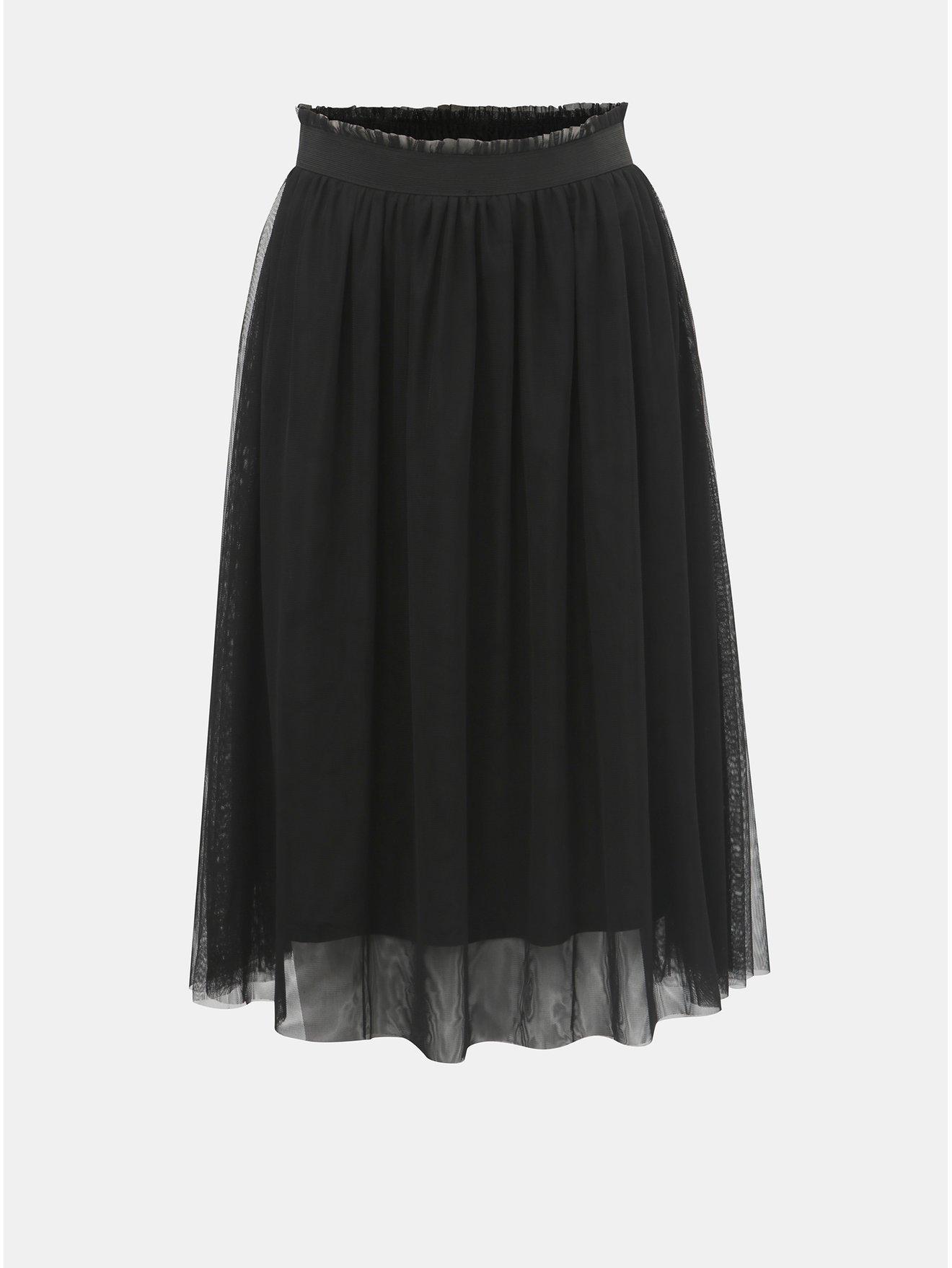 Černá tylová sukně ONLY Mischa