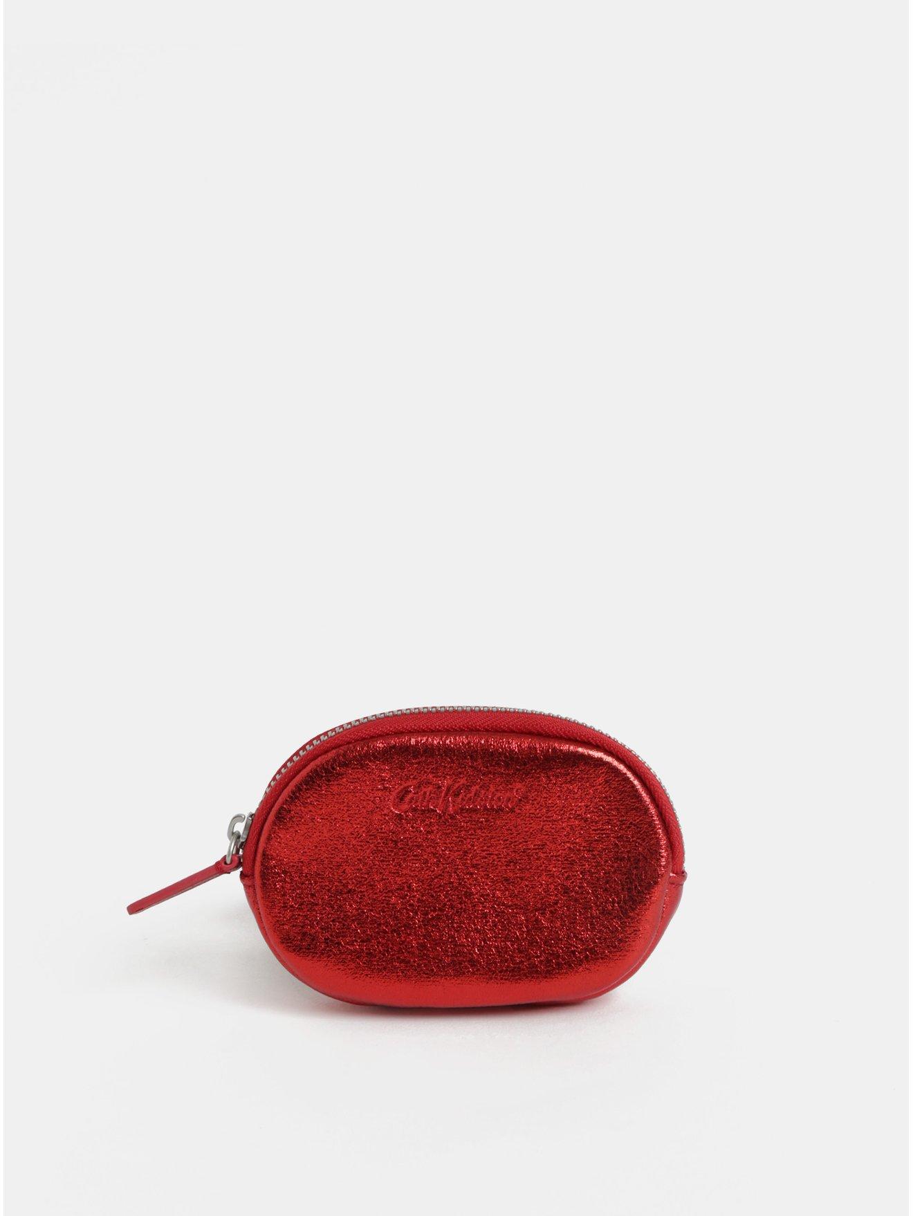 Červená třpytivá peněženka na mince Cath Kidston