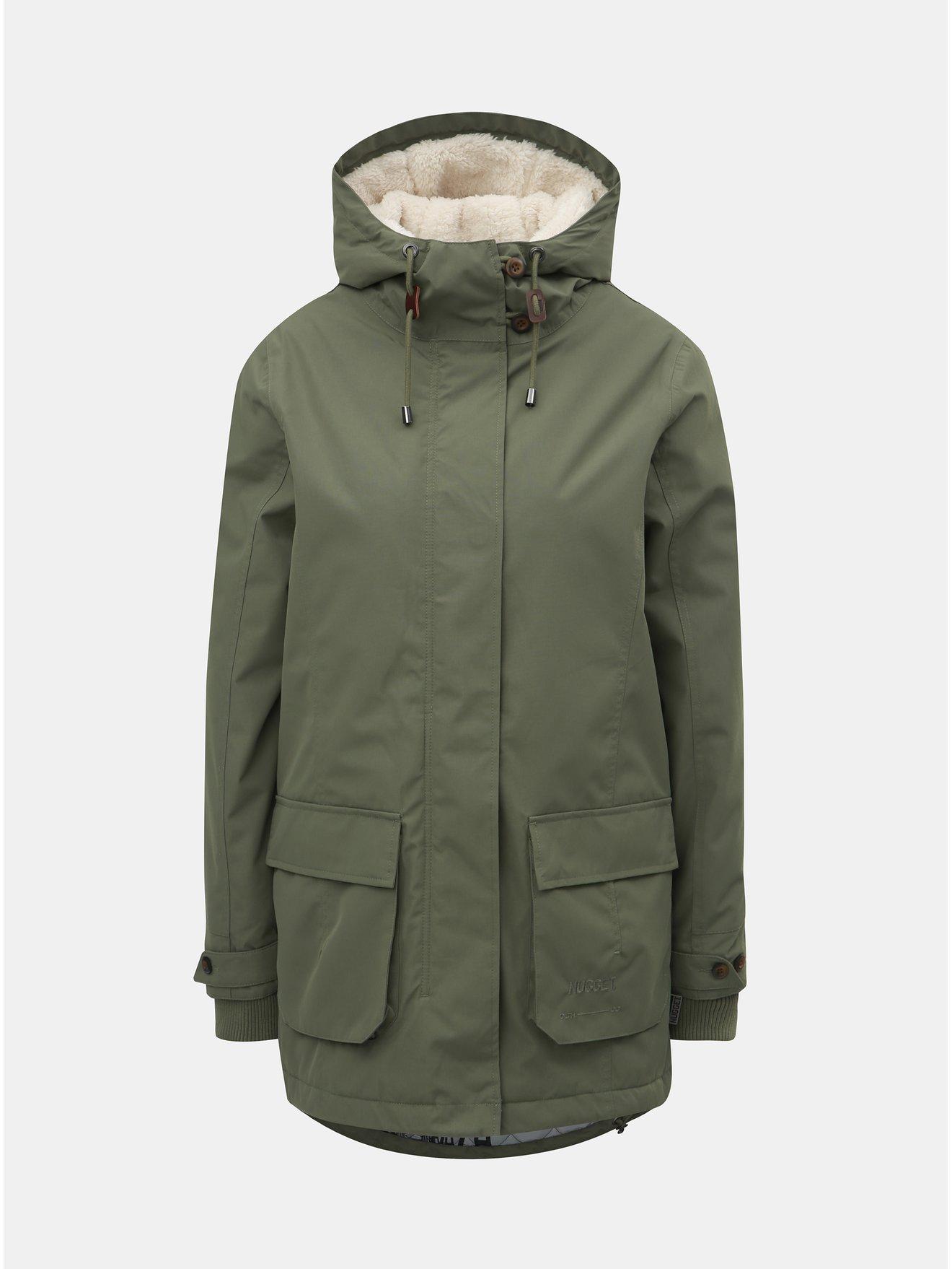 Zelená dámská zimní bunda Nugget Hita