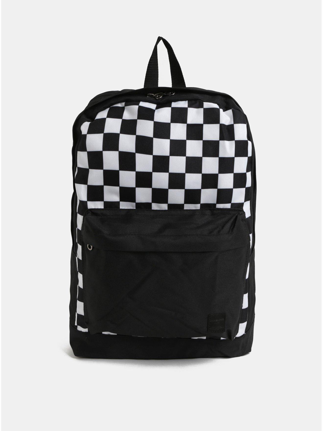 Bílo-černý batoh s přední kapsou Jack   Jones Basic 6492fda02d