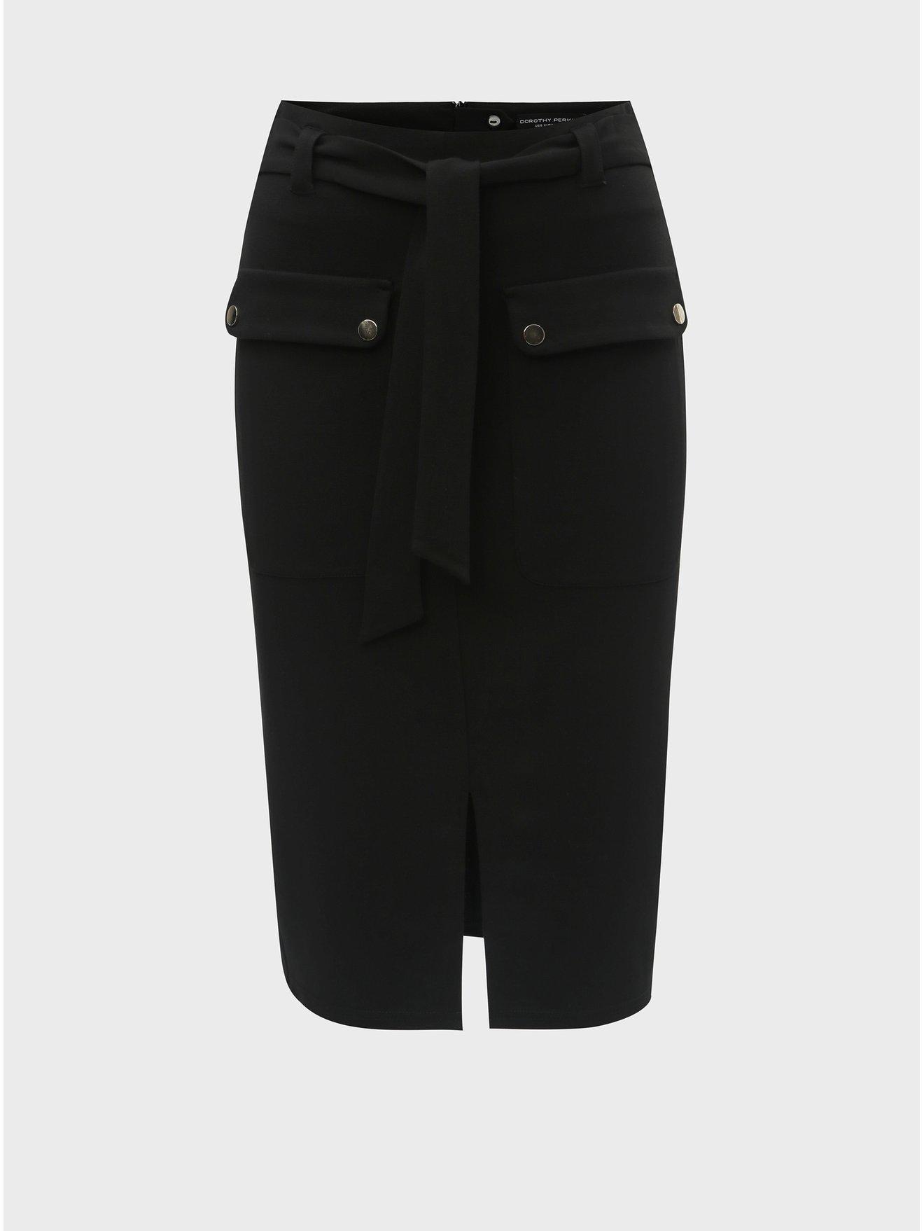 Černá pouzdrová sukně s kapsami Dorothy Perkins f4ff3dda67