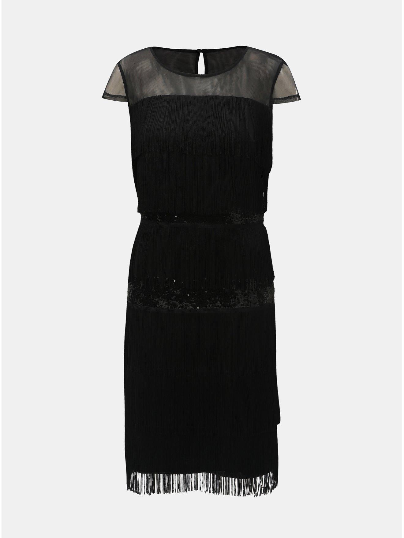 Černé šaty s třásněmi a flitry Lily   Franc by Dorothy Perkins 2299551c49