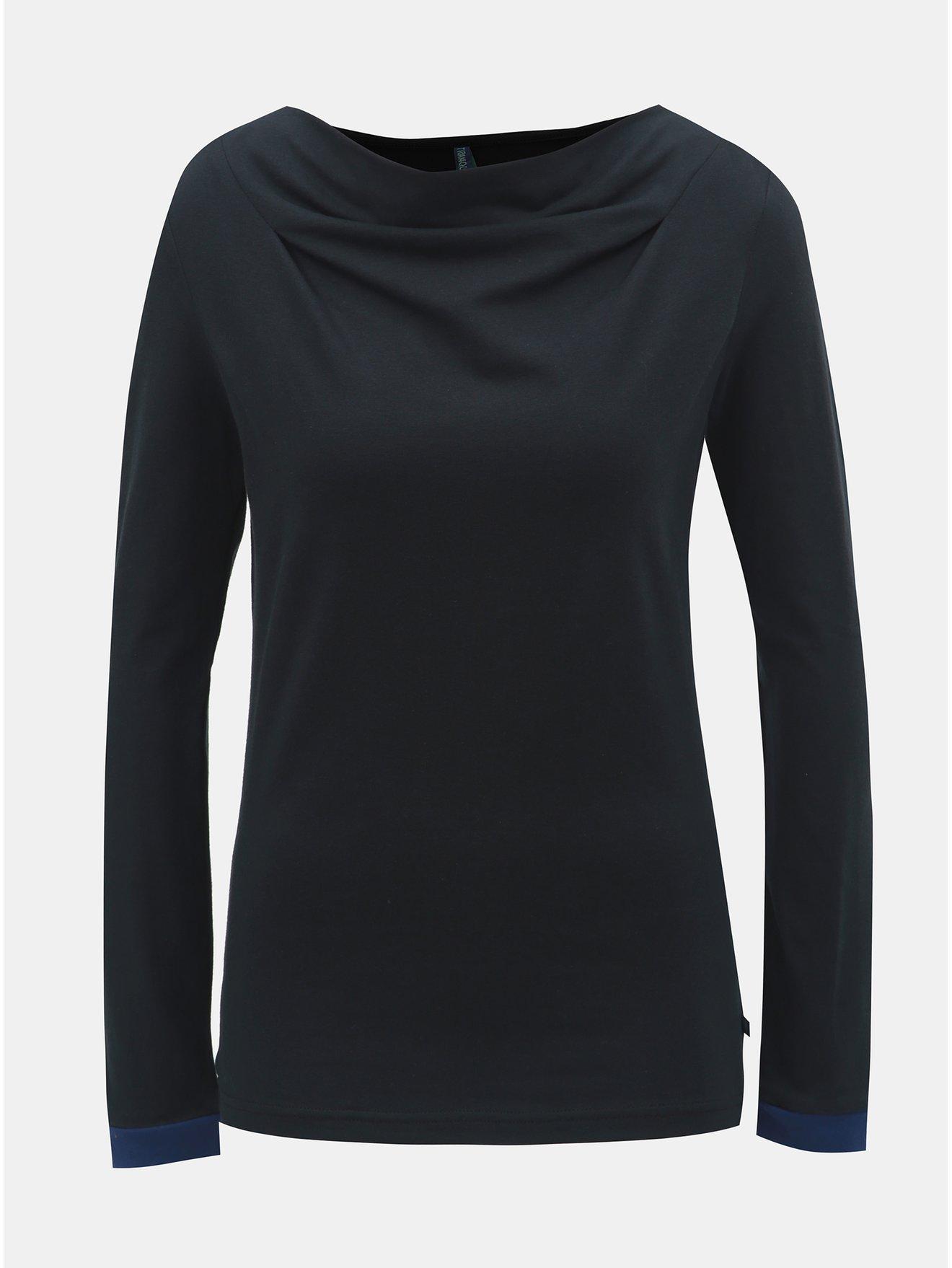 ab66958622c Černé tričko s dlouhým rukávem Tranquillo Anahita