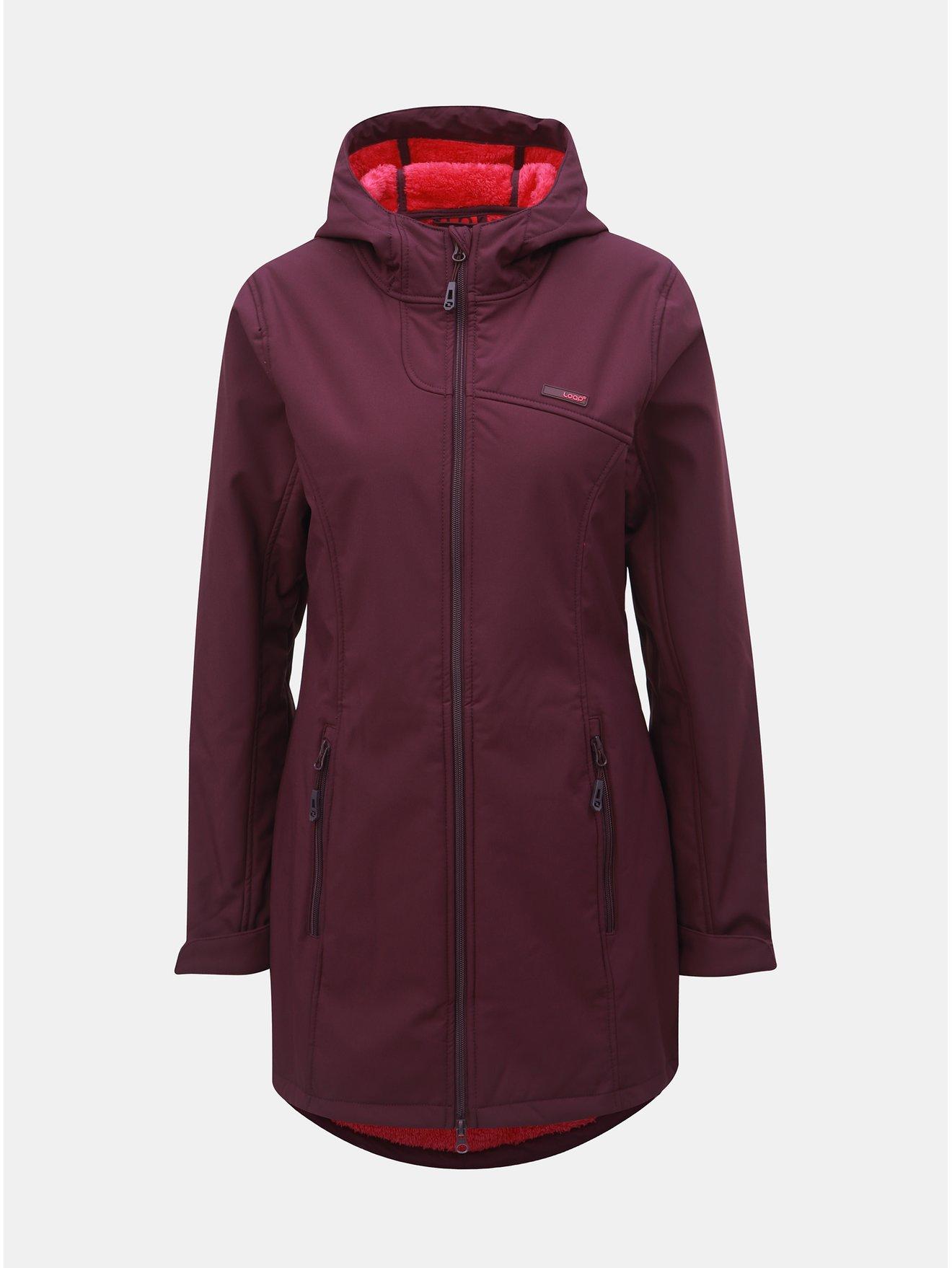 Fialový dámský softshellový nepromokavý lehký kabát LOAP Lavinia 911acabaac