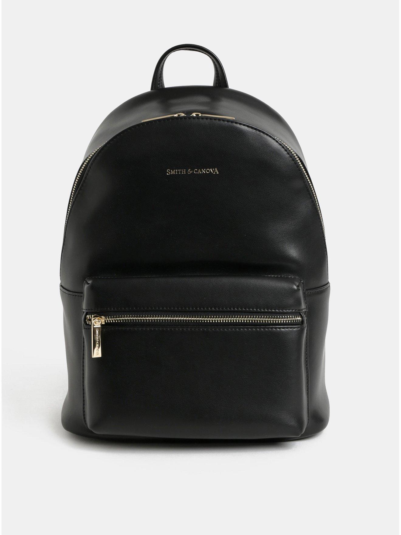 58a0a11eed6 Černý kožený batoh Smith   Canova