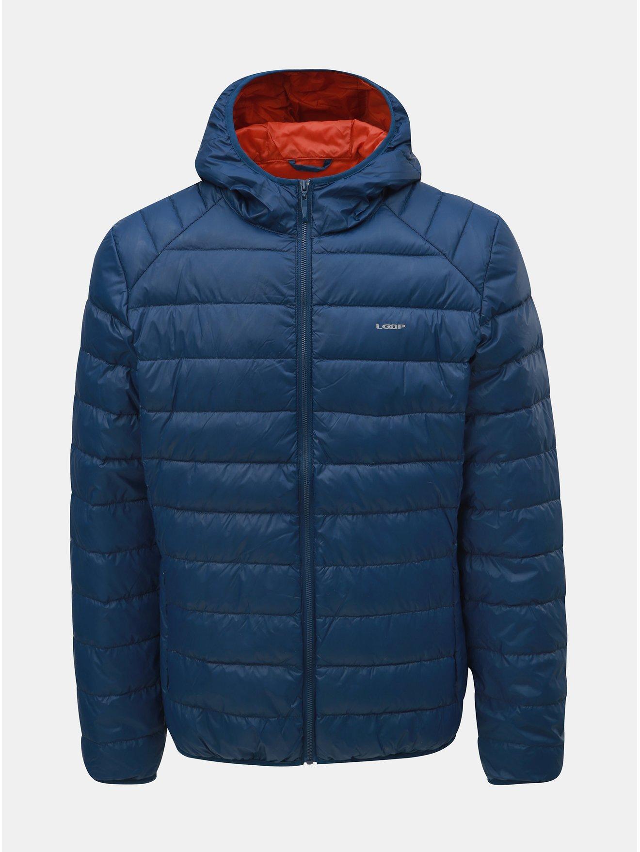 Modrá pánská péřová voděodpudivá lehká bunda LOAP Ipos