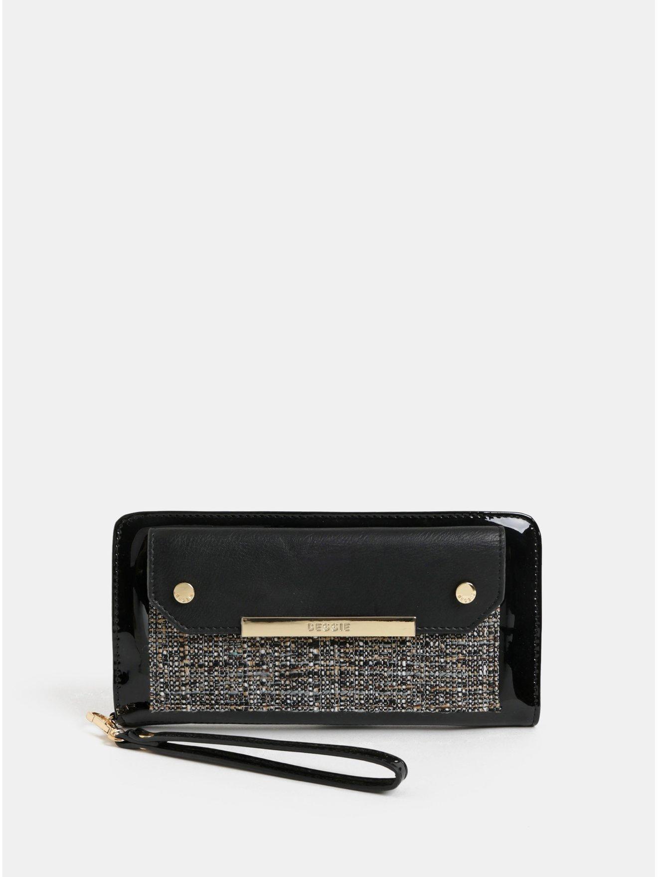Černá velká peněženka s odnímatelným poutkem Bessie London