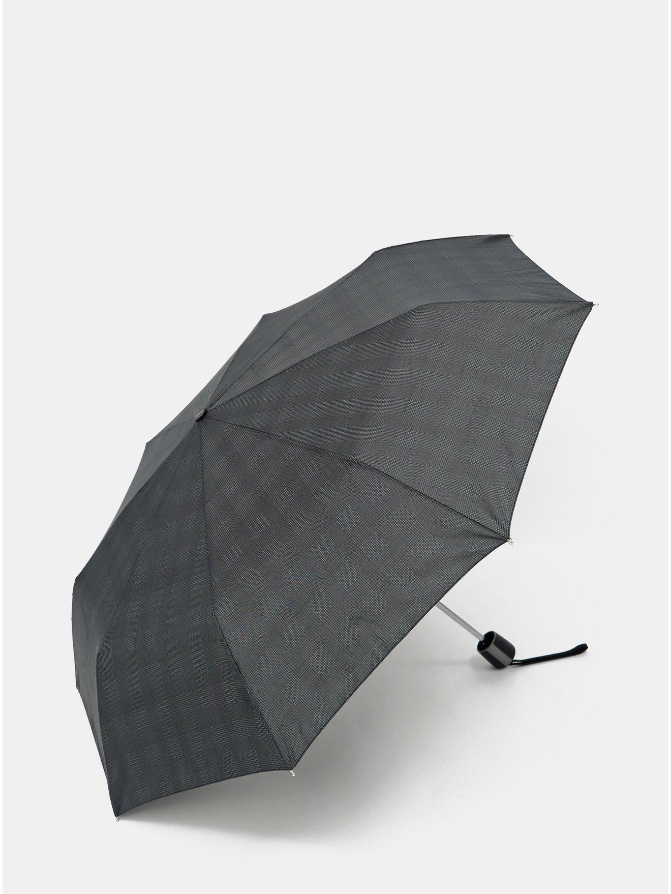 Černý vzorovaný skládací deštník Doppler