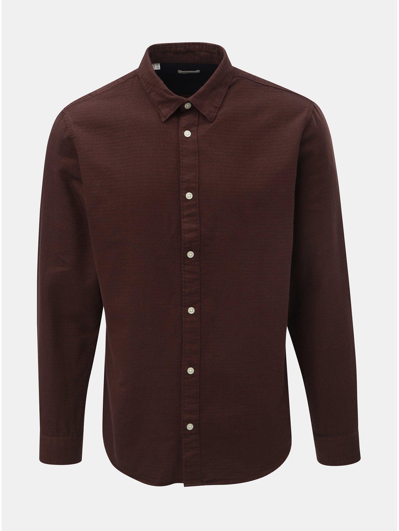 4951291e0cc Hnědá slim fit košile s dlouhým rukávem Selected Homme Andrew
