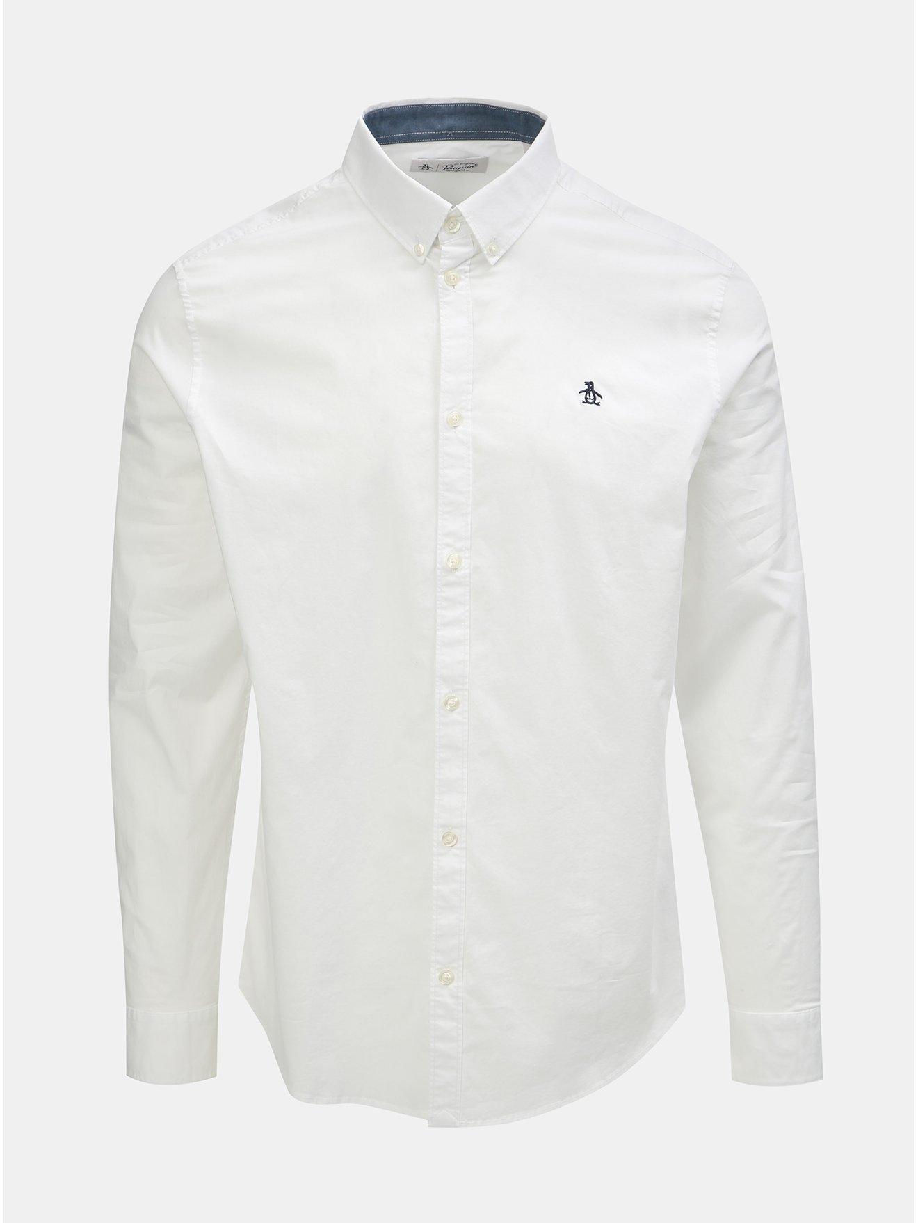 Bílá košile s dlouhým rukávem Original Penguin Poplin 3998357f2e