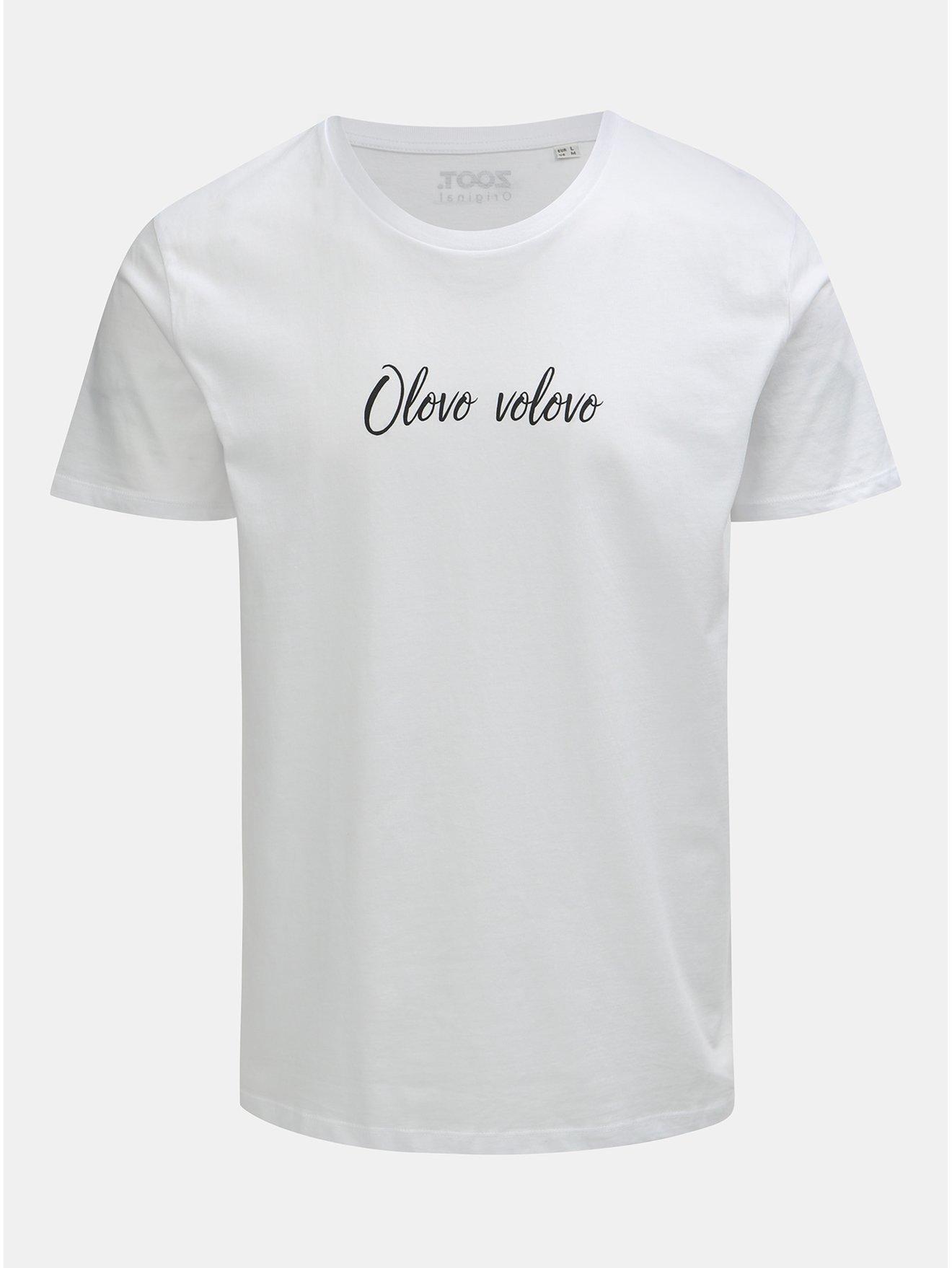 1bd57017e6c Bílé pánské tričko s potiskem ZOOT Original Olovo volovo
