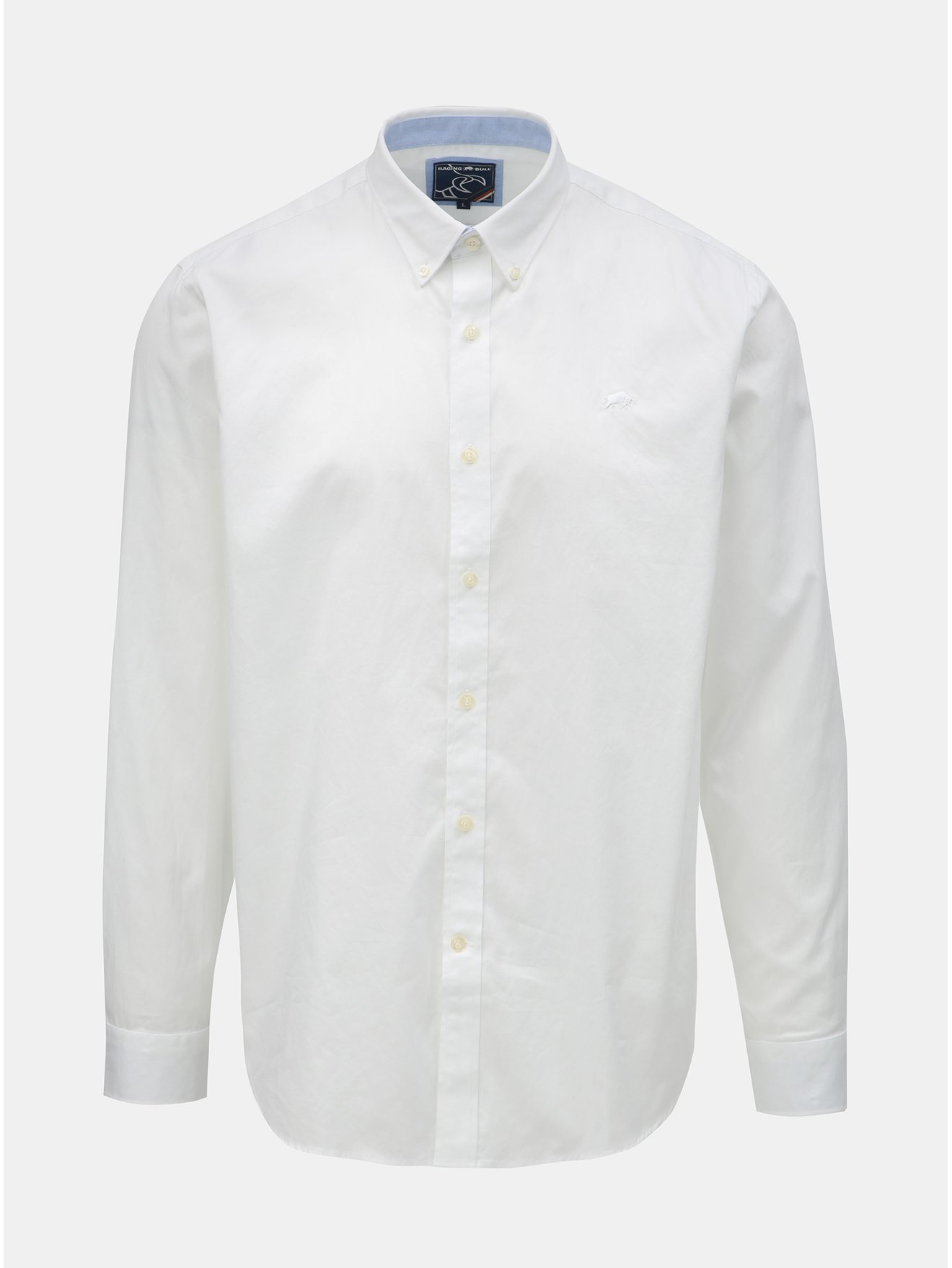 Bílá košile s dlouhým rukávem Raging Bull 8bf7b13b26