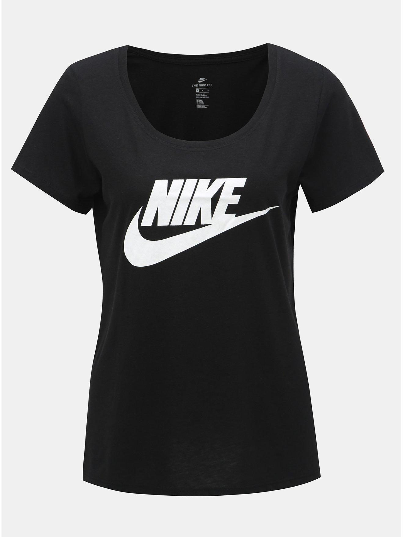 151591c805e Černé dámské tričko s potiskem Nike