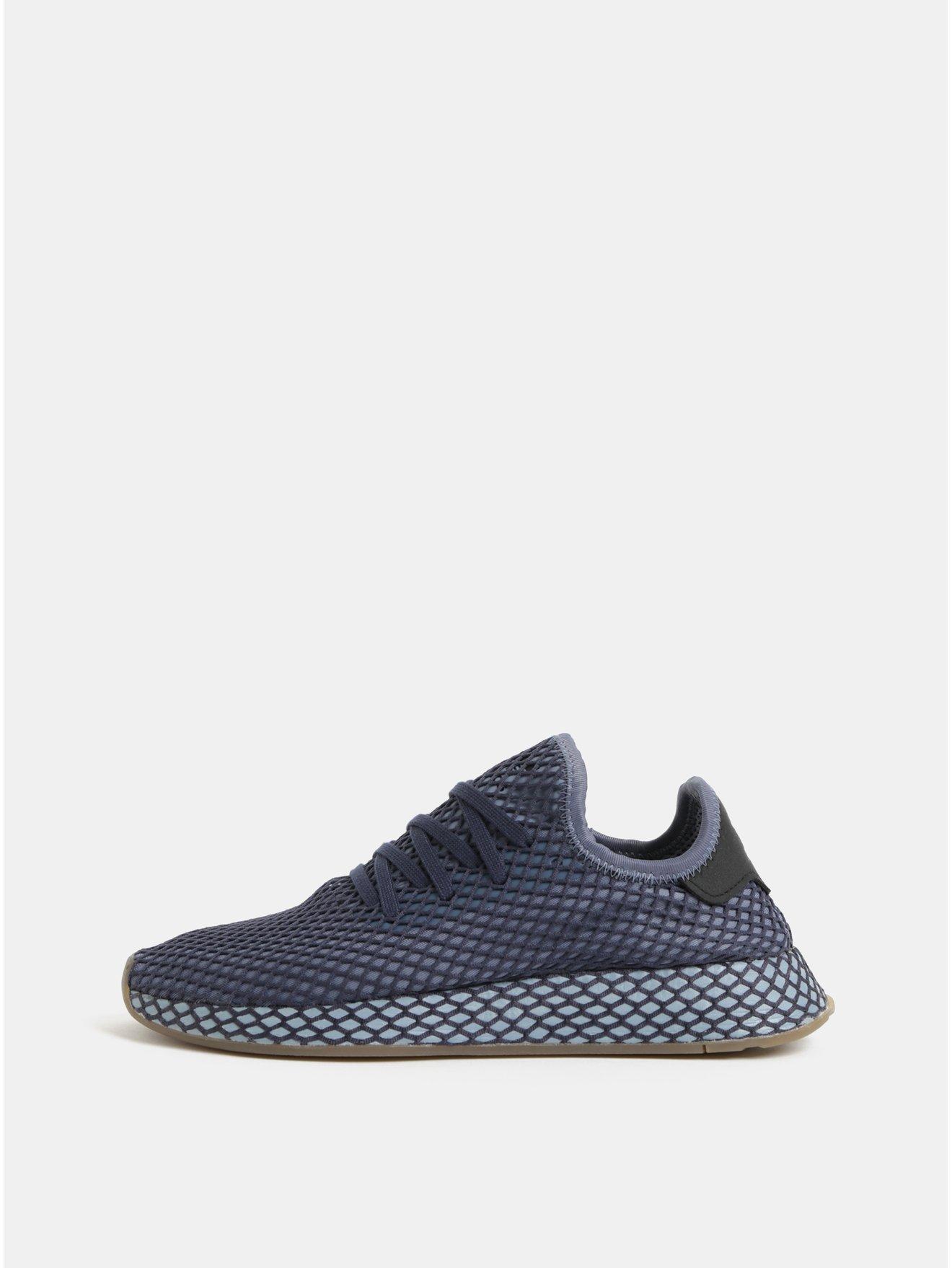 Modré pánské síťované tenisky adidas Originals Deerupt Runner 30e9740e29