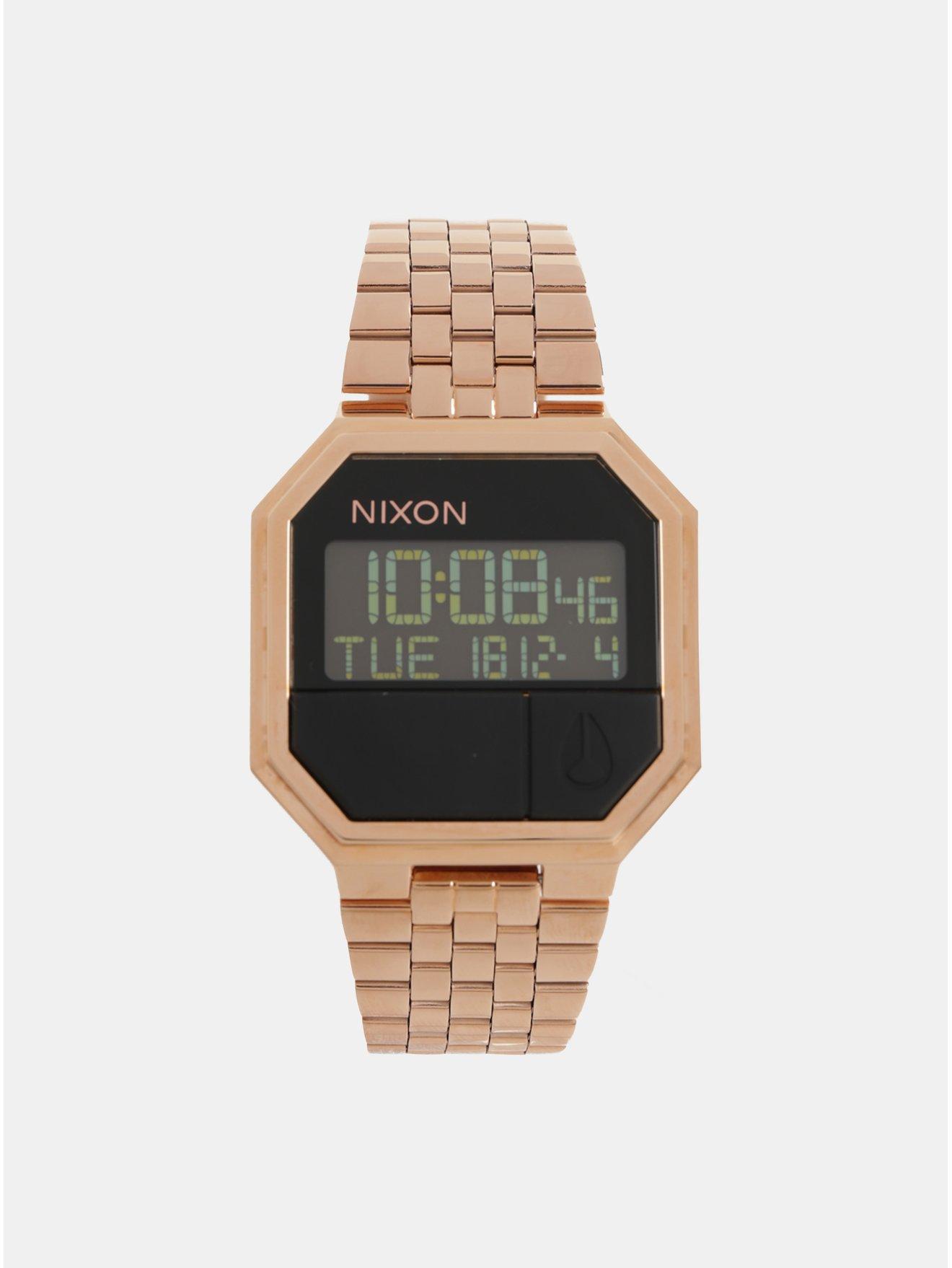 0e27adda4c7 Dámské hodinky s nerezovým páskem v růžovozlaté barvě NIXON