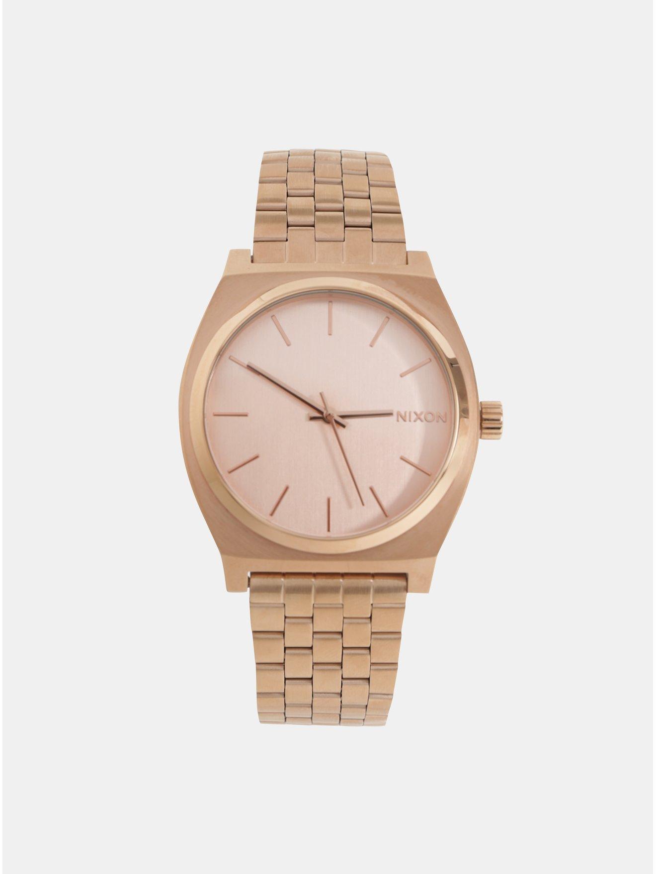 66383d1c640 Dámské hodinky s nerezovým páskem v růžovozlaté barvě Nixon
