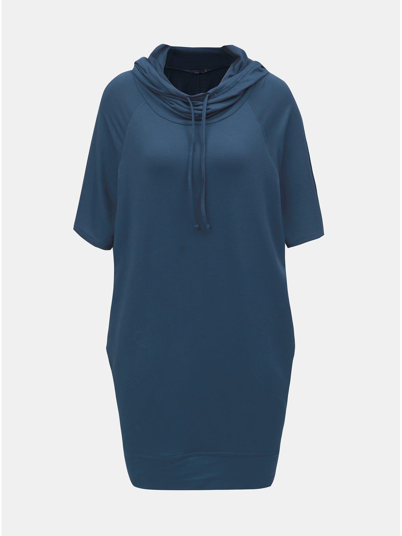 Modré mikinové šaty s kapucí prAna Carys