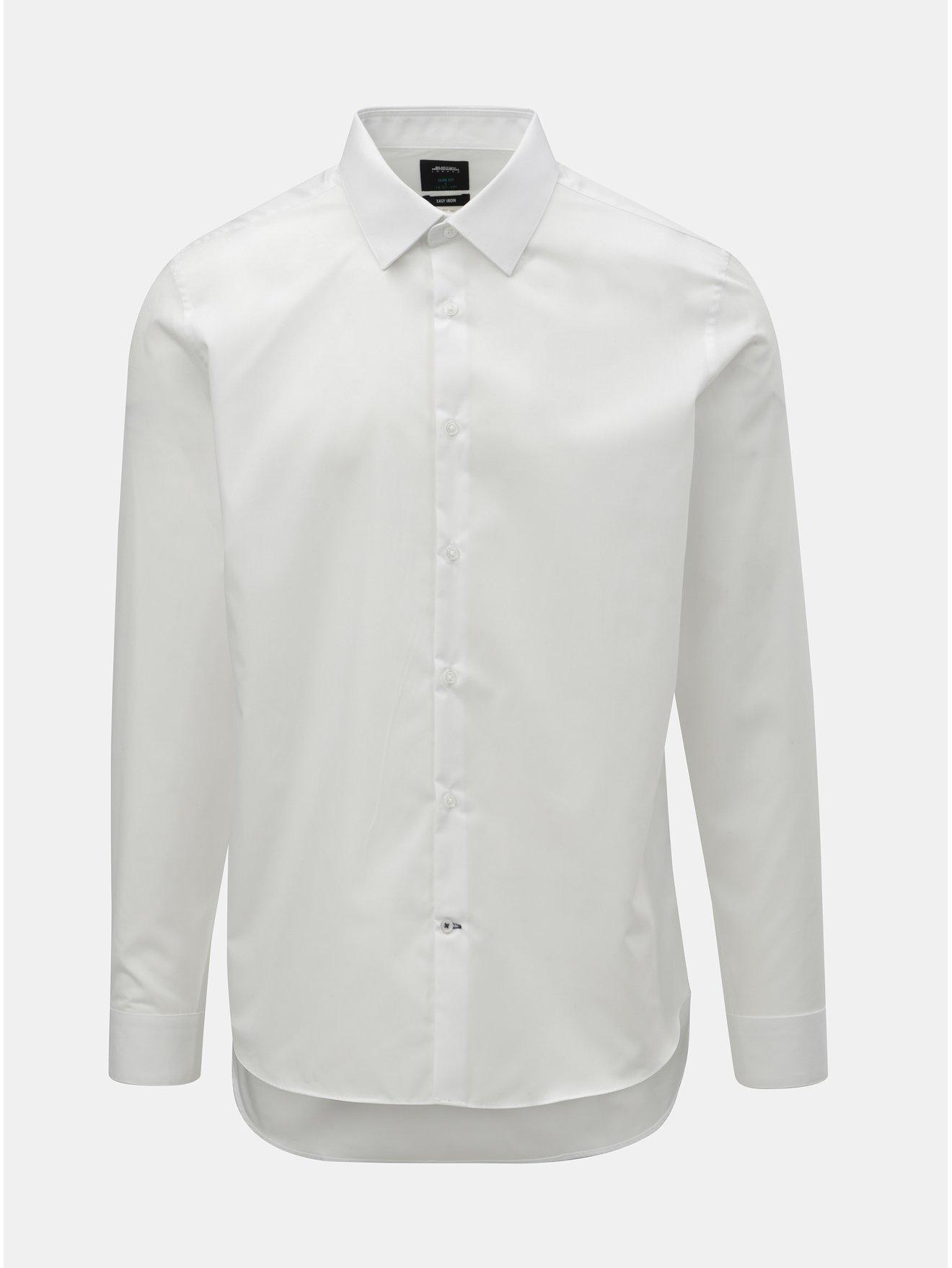 9ebfc797d882 Biela formálna slim fit košeľa Burton Menswear London