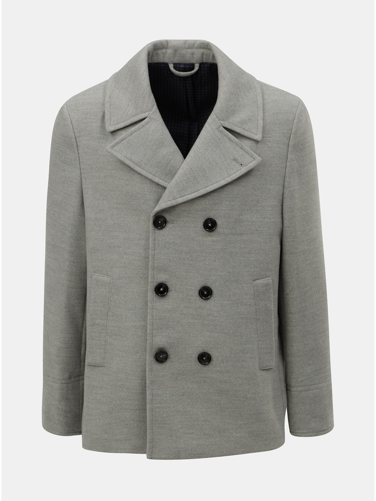 5219afe8ec76 30% Sivý krátky kabát Burton Menswear London