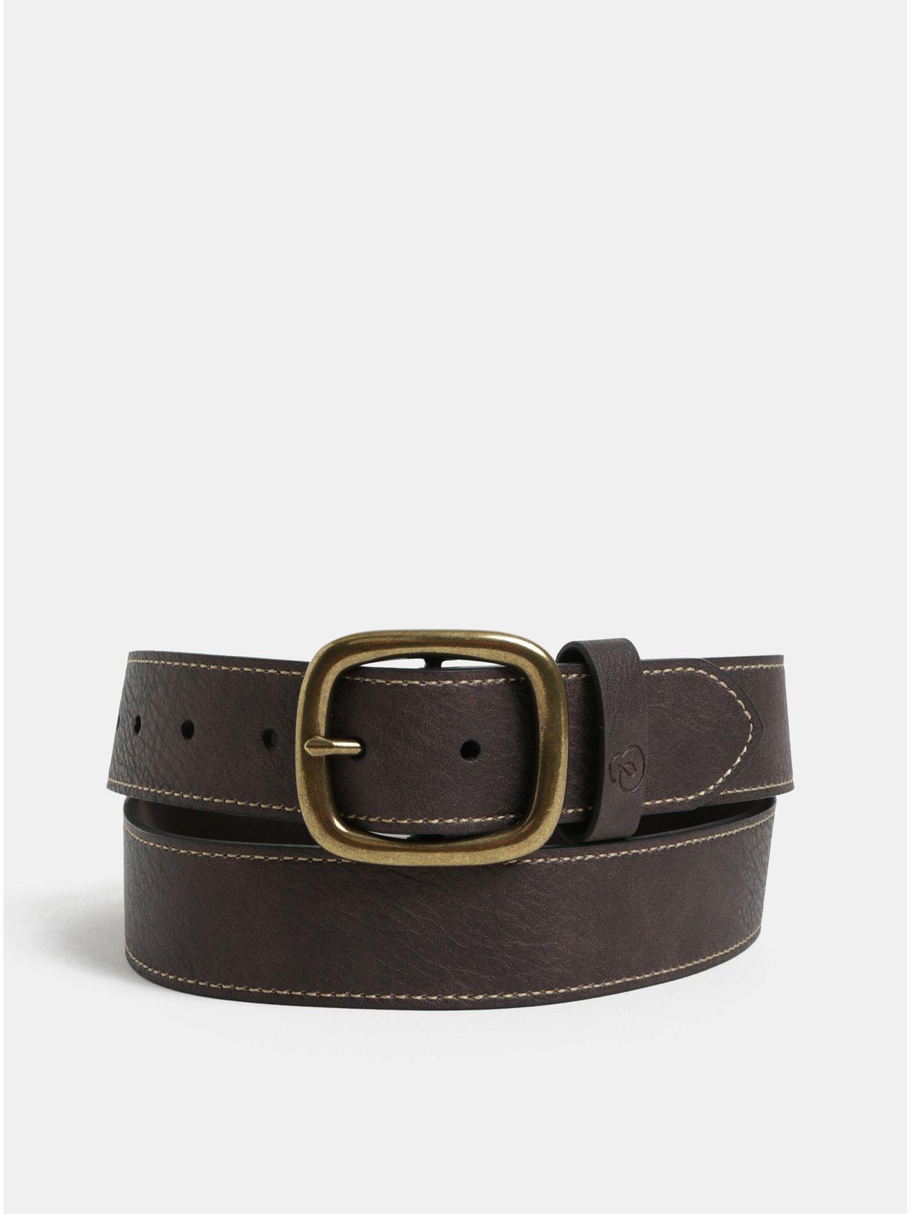 d88ae71513c Hnědý kožený pásek Burton Menswear London