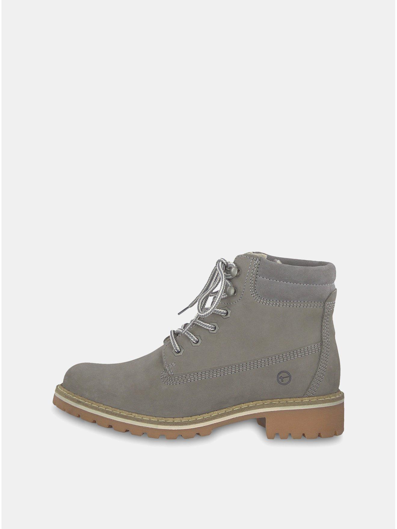 aead76eb2a2 Šedé semišové kotníkové boty Tamaris